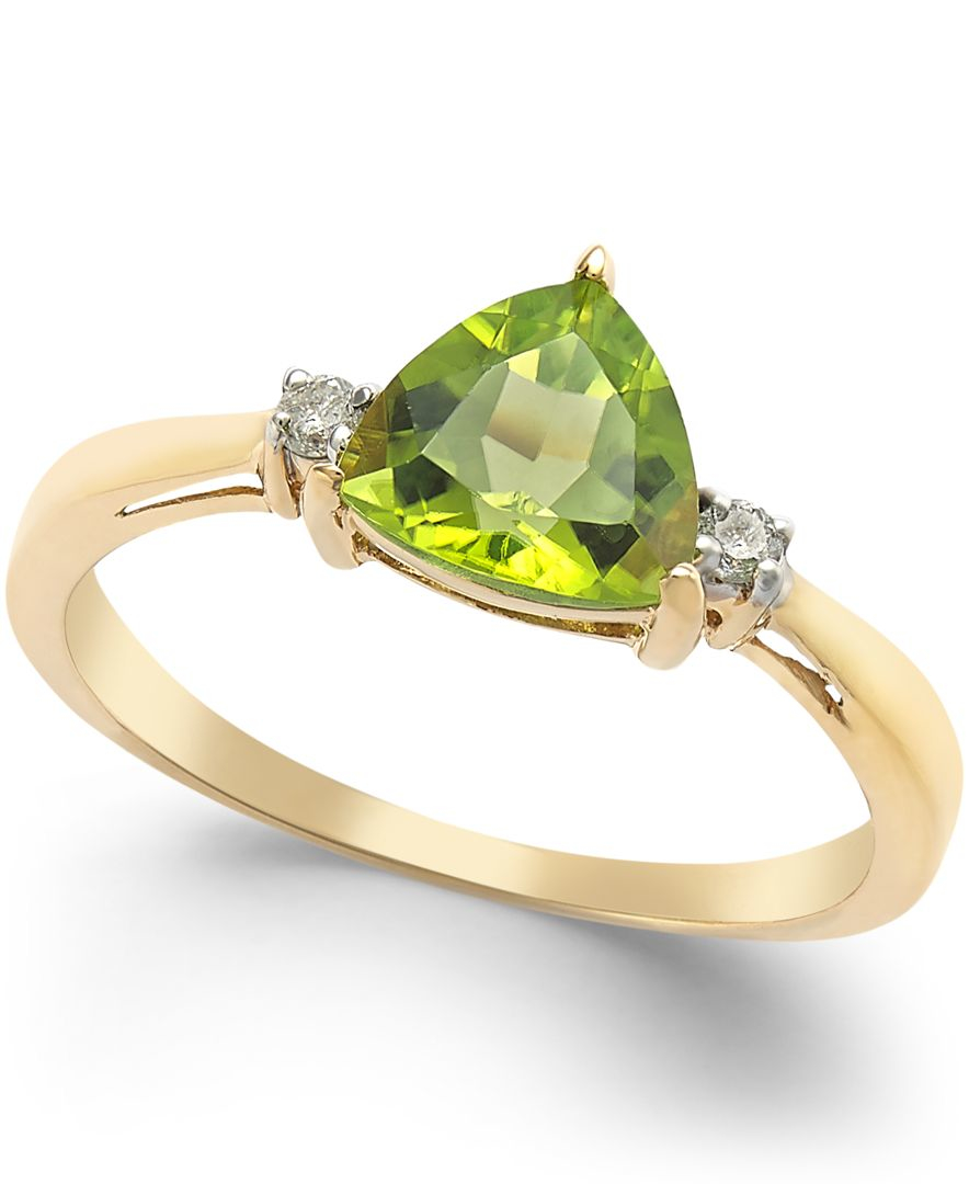 macy s peridot 1 1 3 ct t w and accent ring in