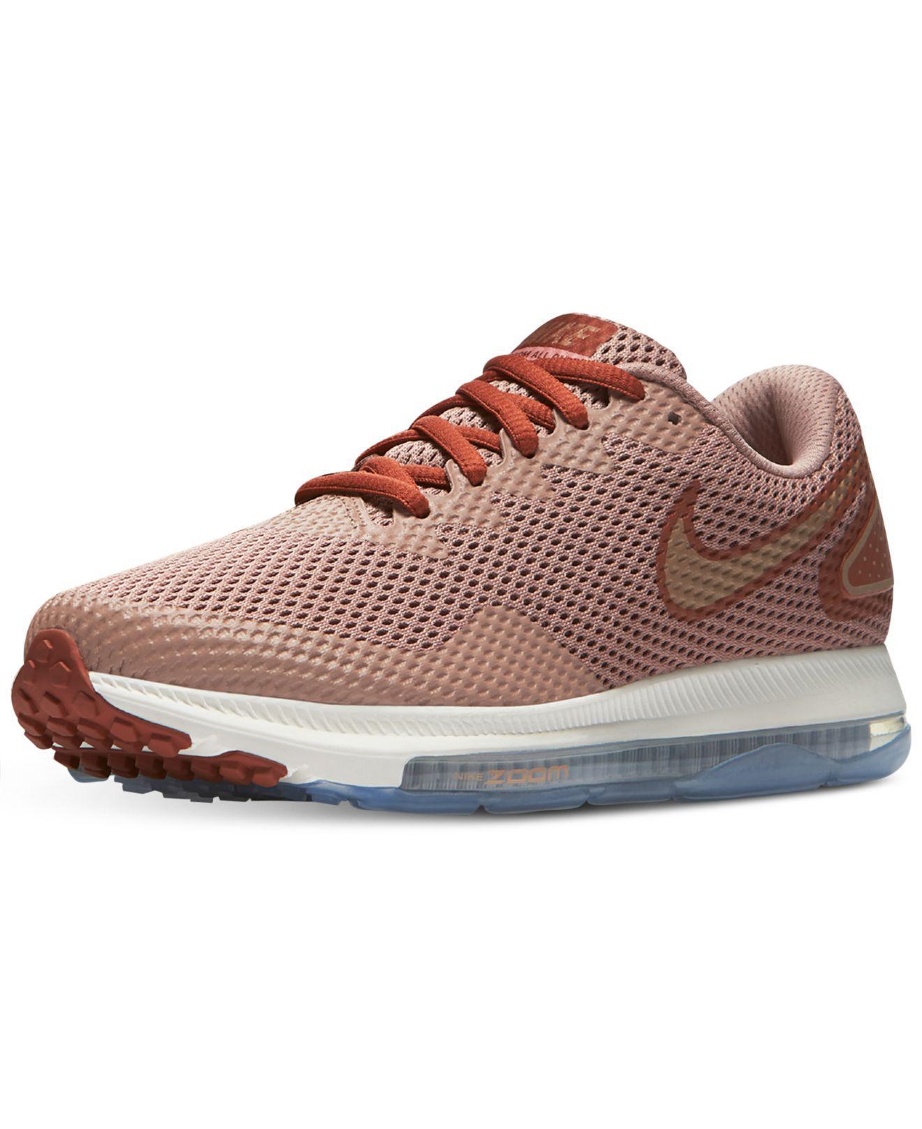 ... 637b0 Lyst - Nike Womens Zoom All Out Low 2 Running Sneakers From   footwear babf5 84dd9 Nike. Womens Flex 2017 Run Running Sneakers from Finish  Line. e7444b6b5