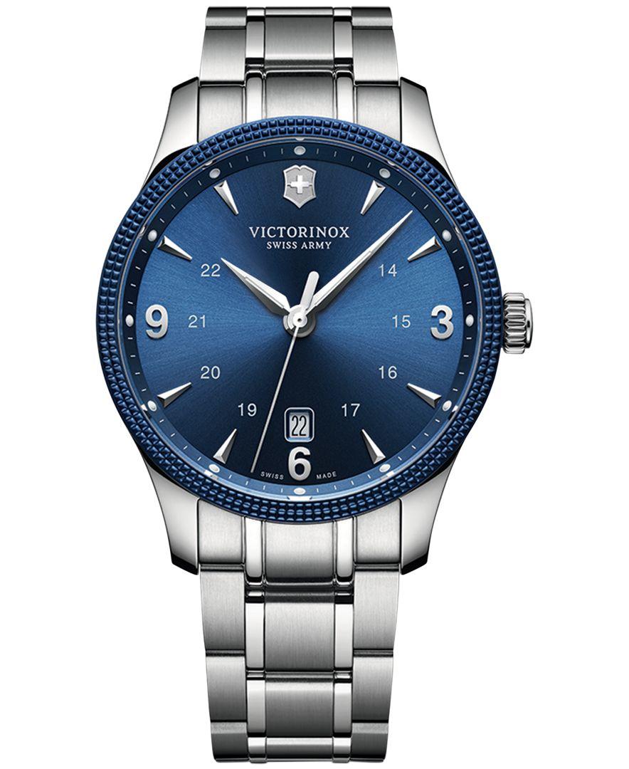 Victorinox Men S Alliance Stainless Steel Bracelet Watch