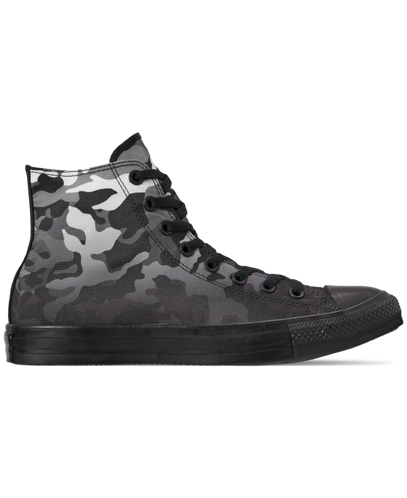 4f12a5f20803 Converse - Black Chuck Taylor All Star Gradient Camo High Top Casual  Sneakers From Finish Line. View fullscreen