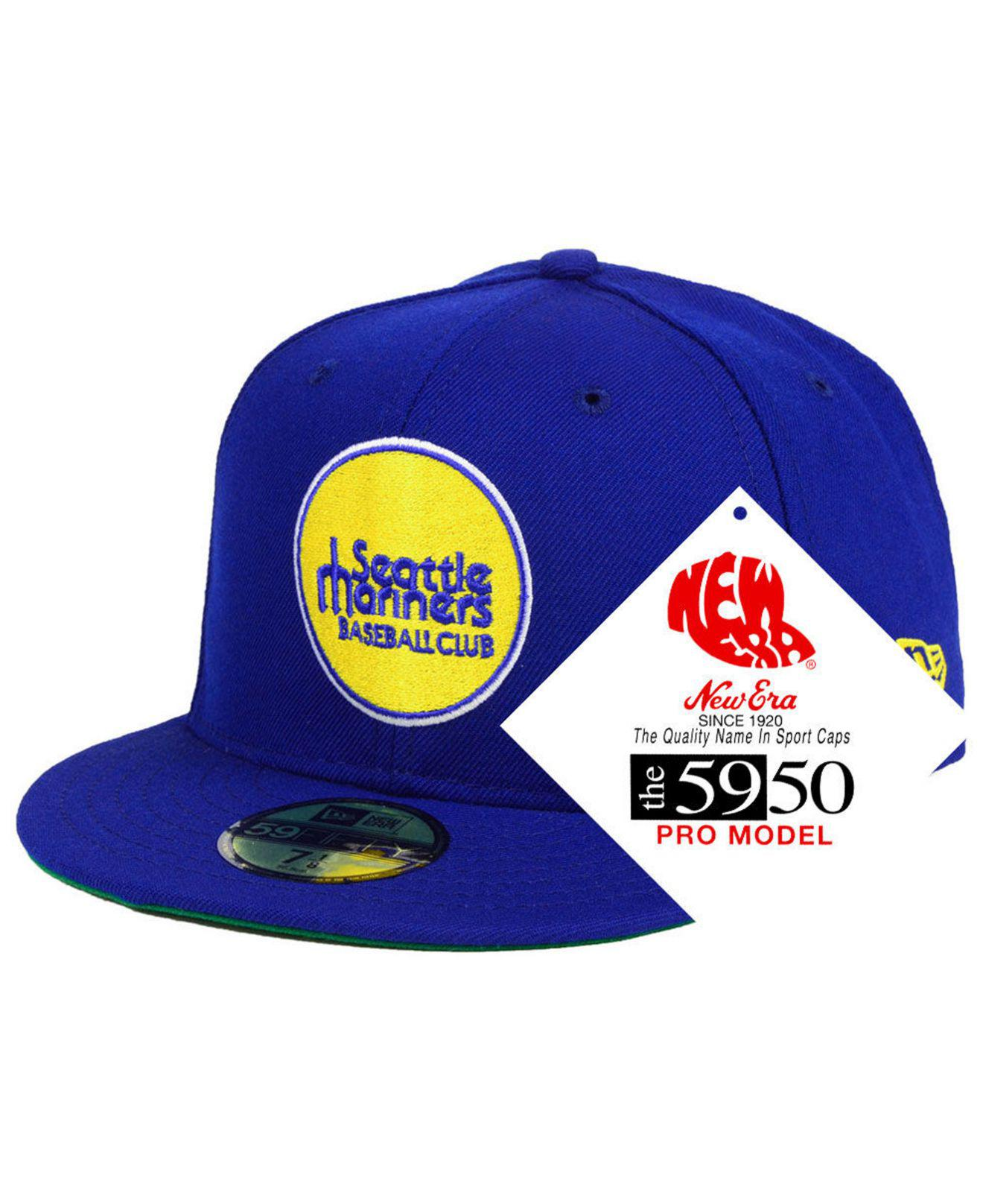 huge selection of eb695 3ffc8 KTZ - Blue Seattle Mariners Retro Stock 59fifty Fitted Cap for Men - Lyst.  View fullscreen