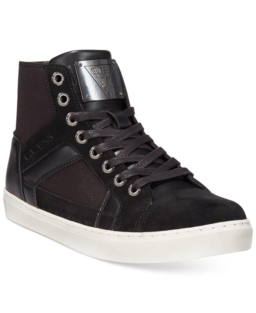 Guess Toledo Hi-top Sneakers in Black for Men | Lyst