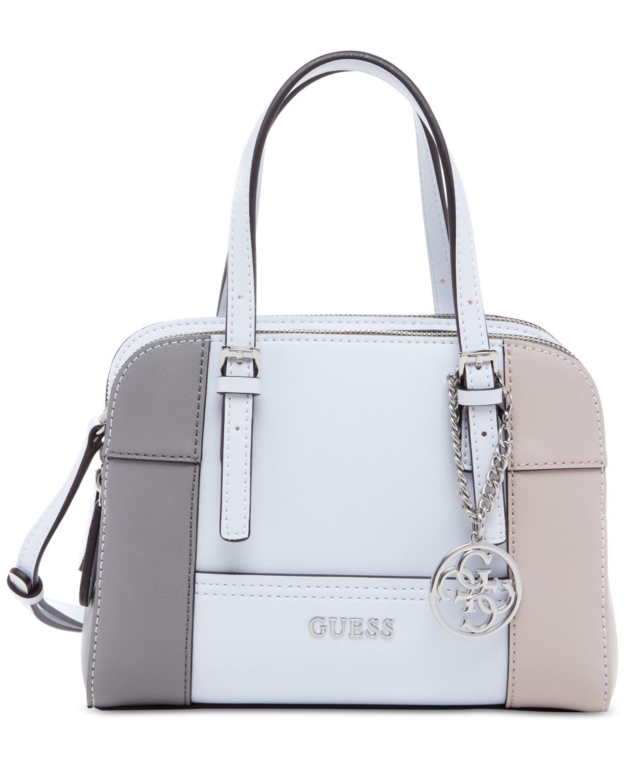 Lyst Guess Huntley Small Cali Satchel In Gray