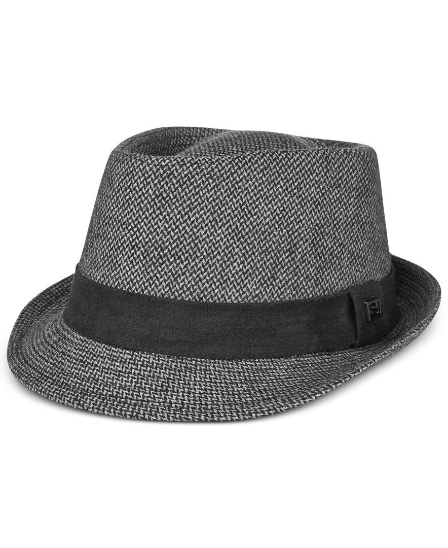 Sean john Men's Fabric Fedora in Gray for Men