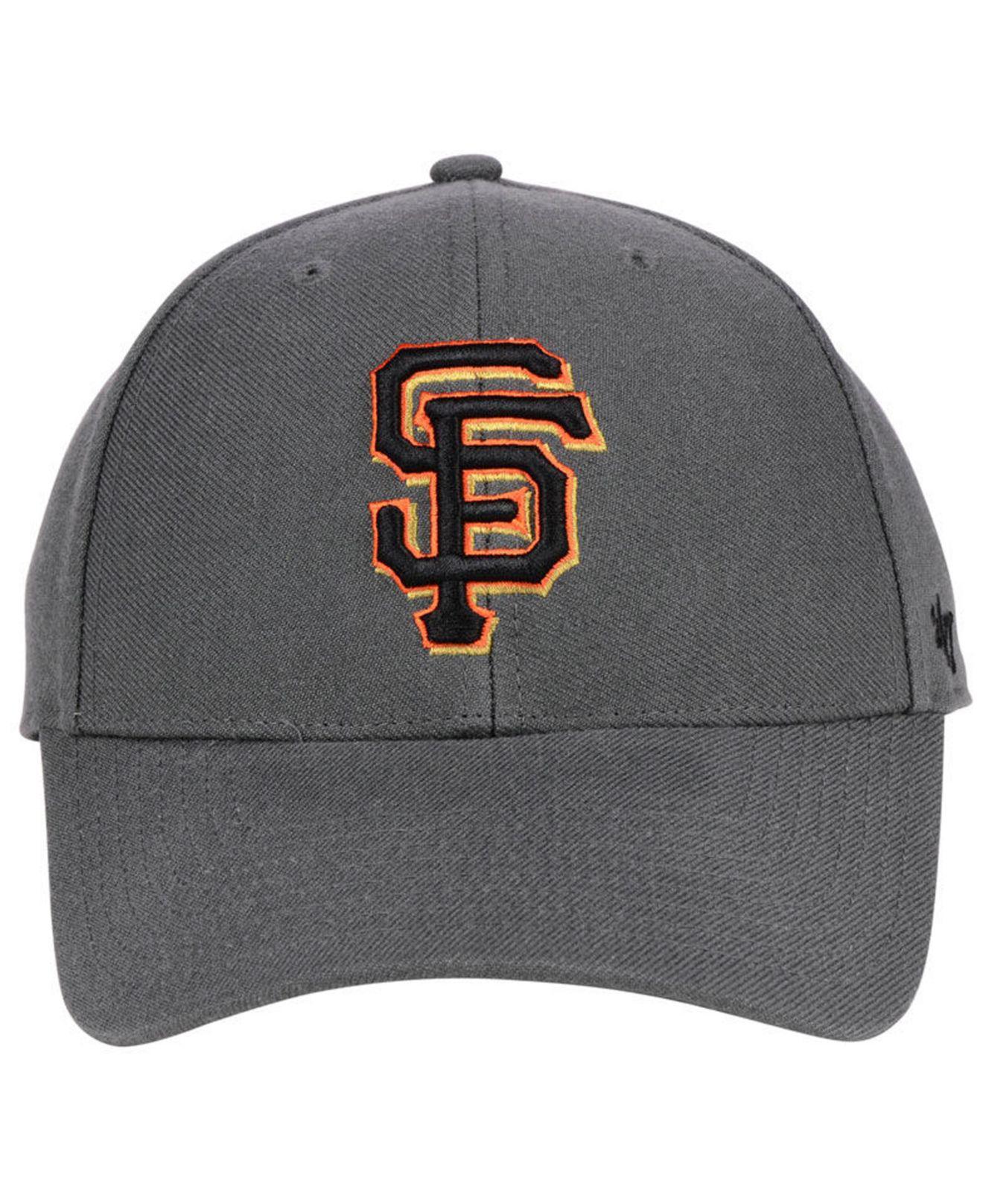 84fbb5398 Lyst - 47 Brand San Francisco Giants Charcoal Mvp Cap in Gray for Men
