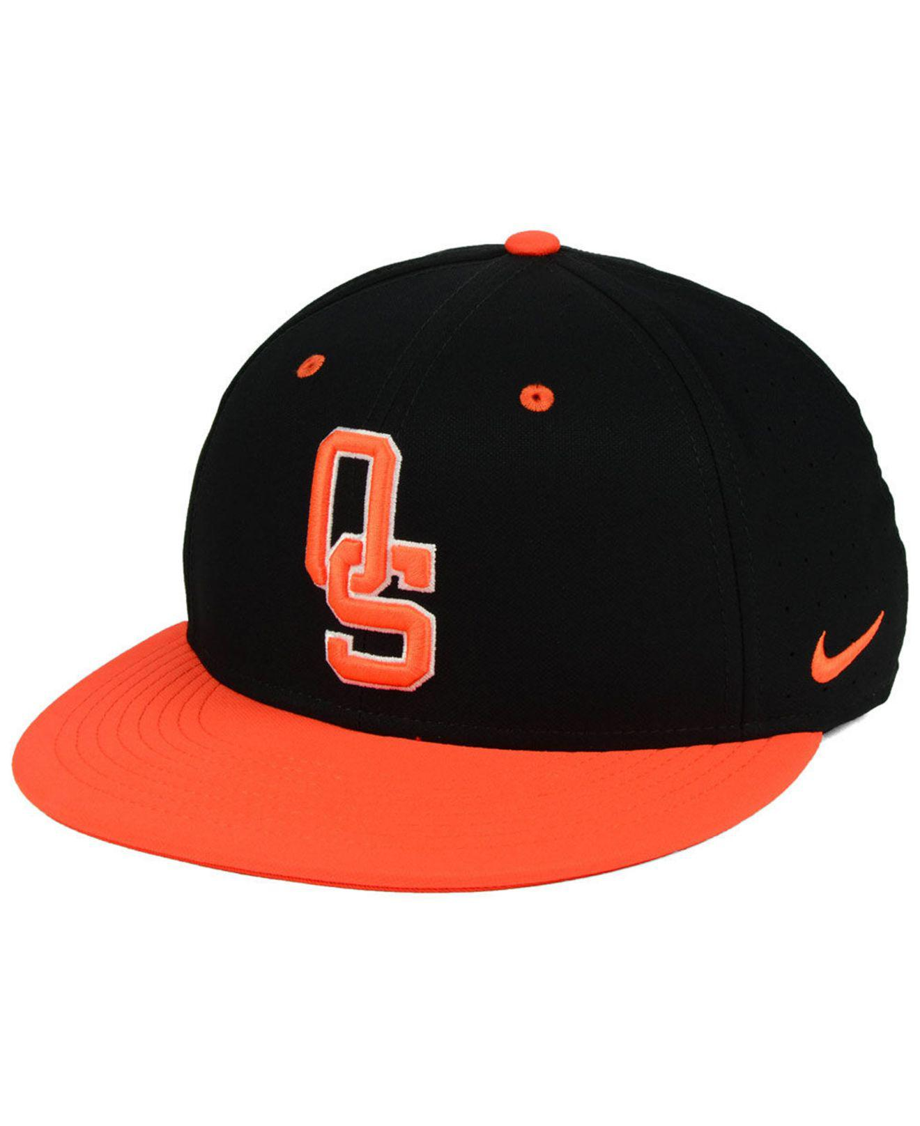 Nike. Men s Black Oklahoma State Cowboys Aerobill True Fitted Baseball Cap 2c0cabe63662