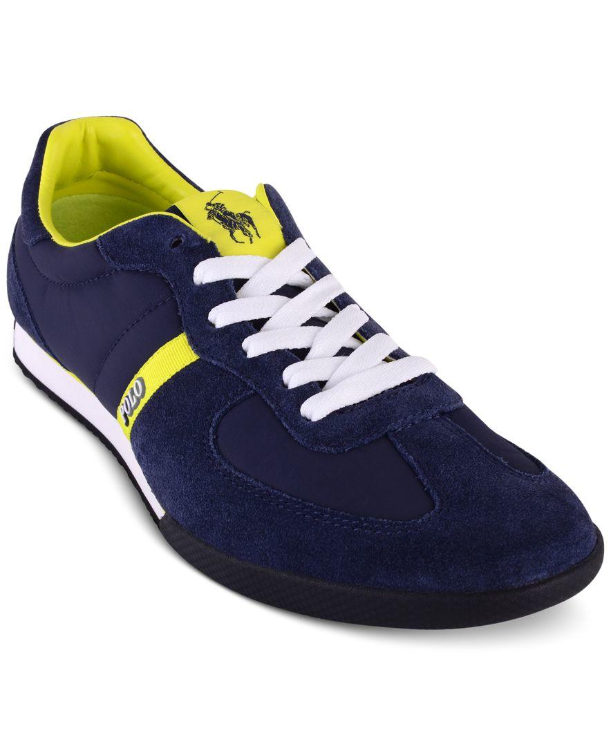 polo ralph lauren men 39 s jacory newport sneakers in blue. Black Bedroom Furniture Sets. Home Design Ideas