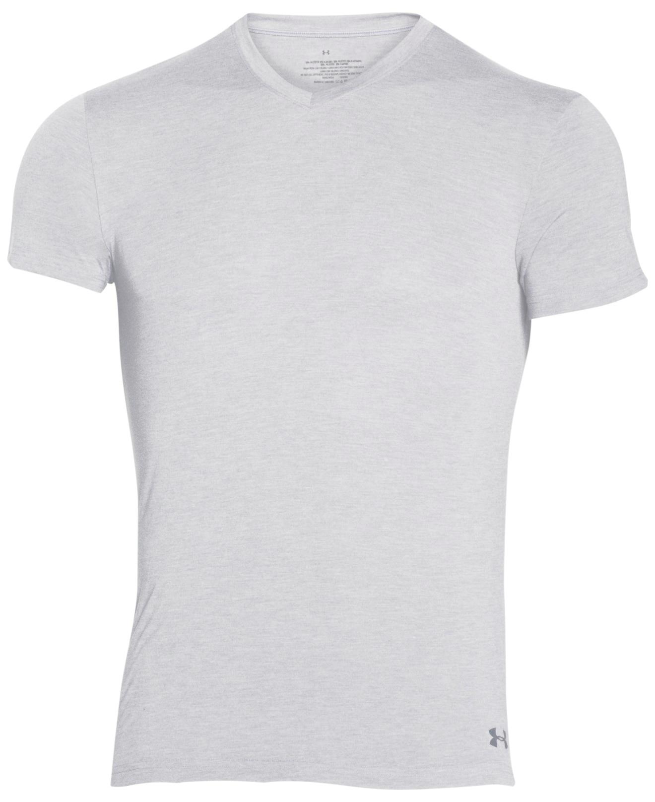 Under Armour Men 39 S V Neck T Shirt In Gray For Men Lyst