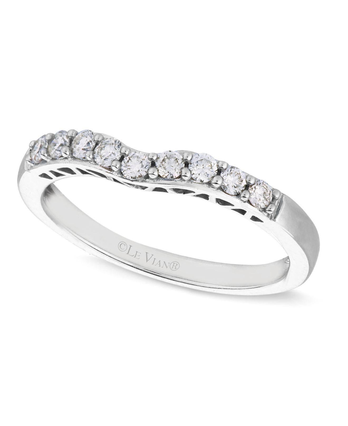 Le Vian Wedding Band 1/6 ct tw Diamonds 14K White Gold NTZULU