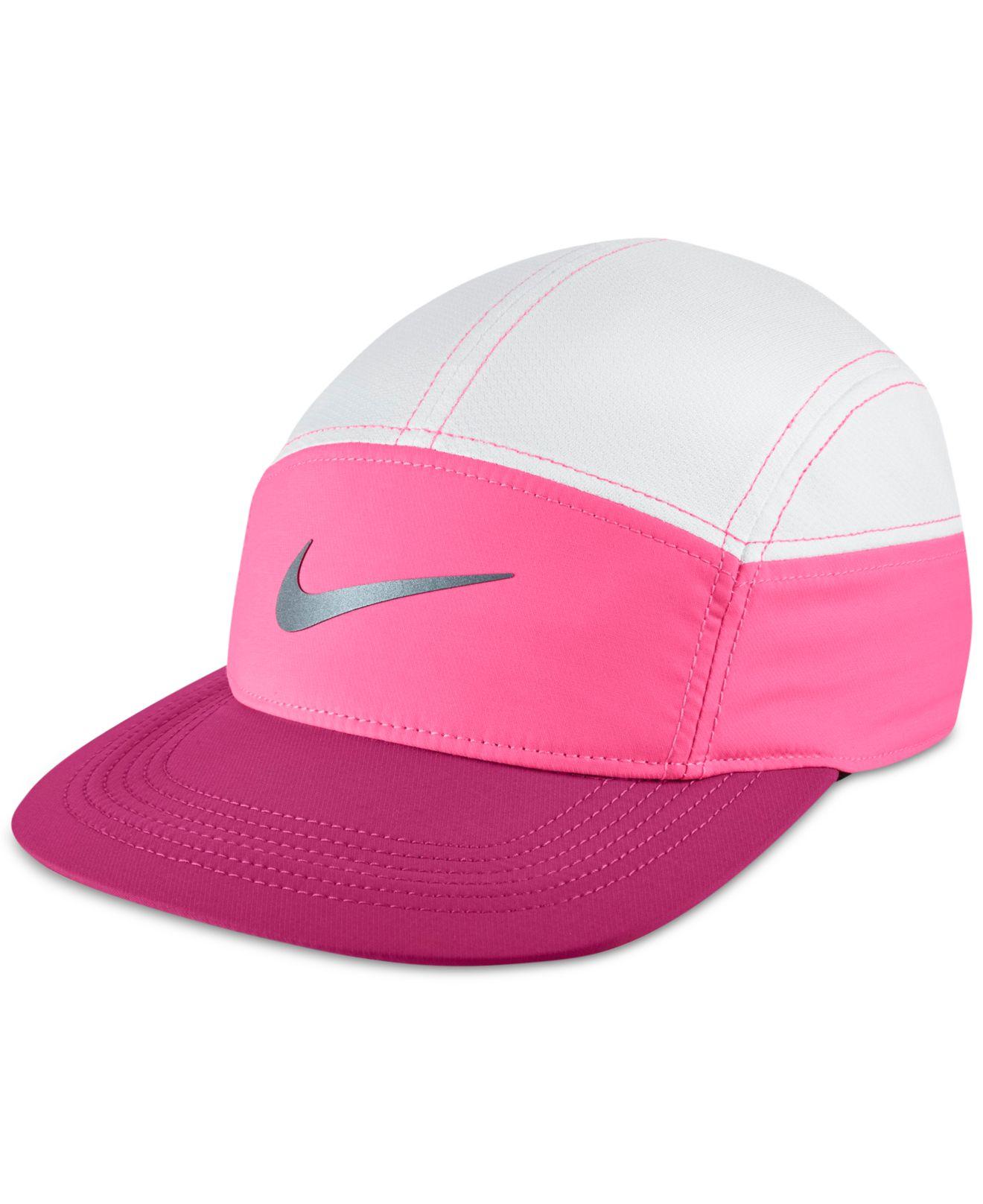 nike zip dri fit running hat in white lyst