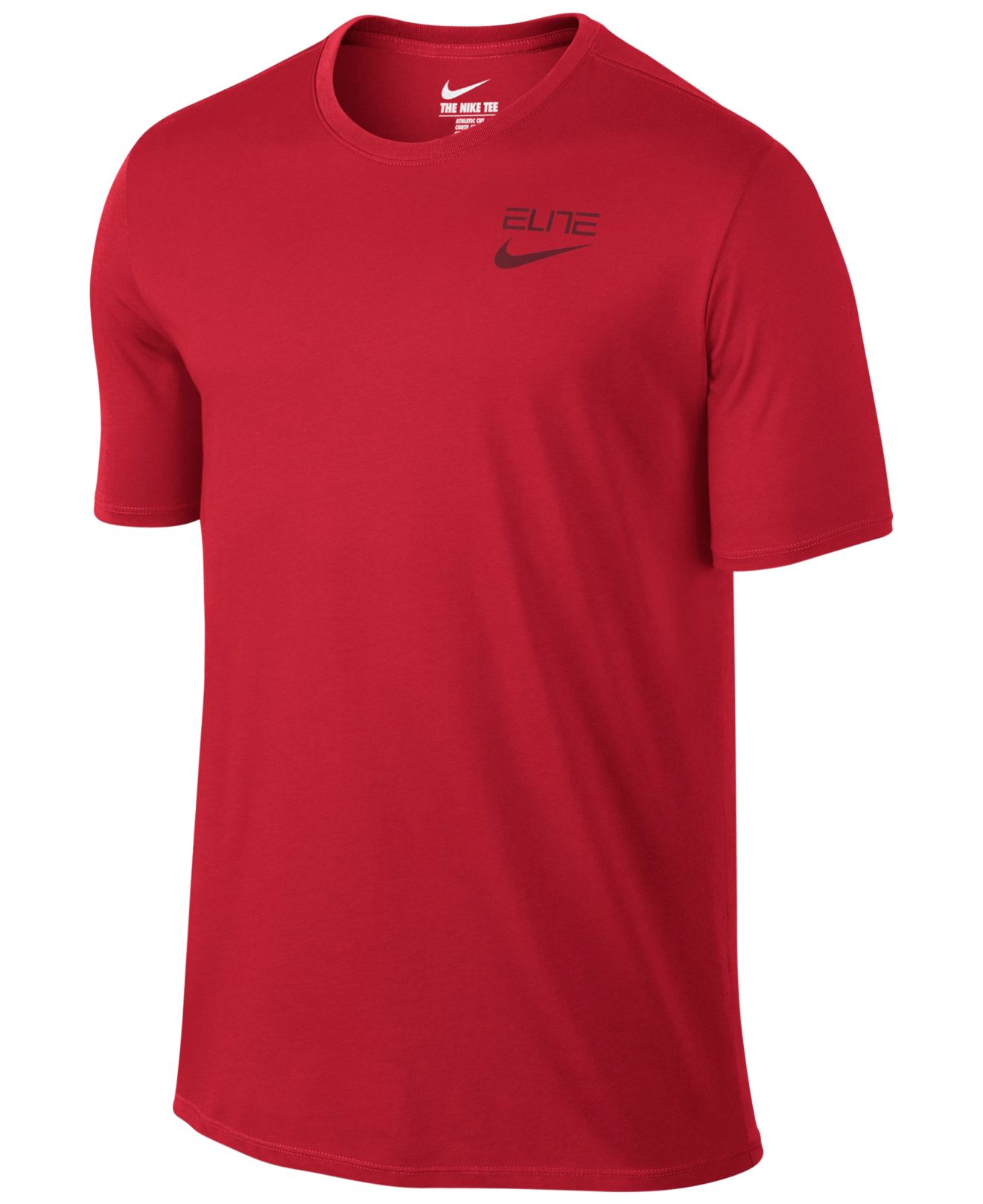 Nike Men 39 S Elite Back Stripe Dri Fit T Shirt In Red For