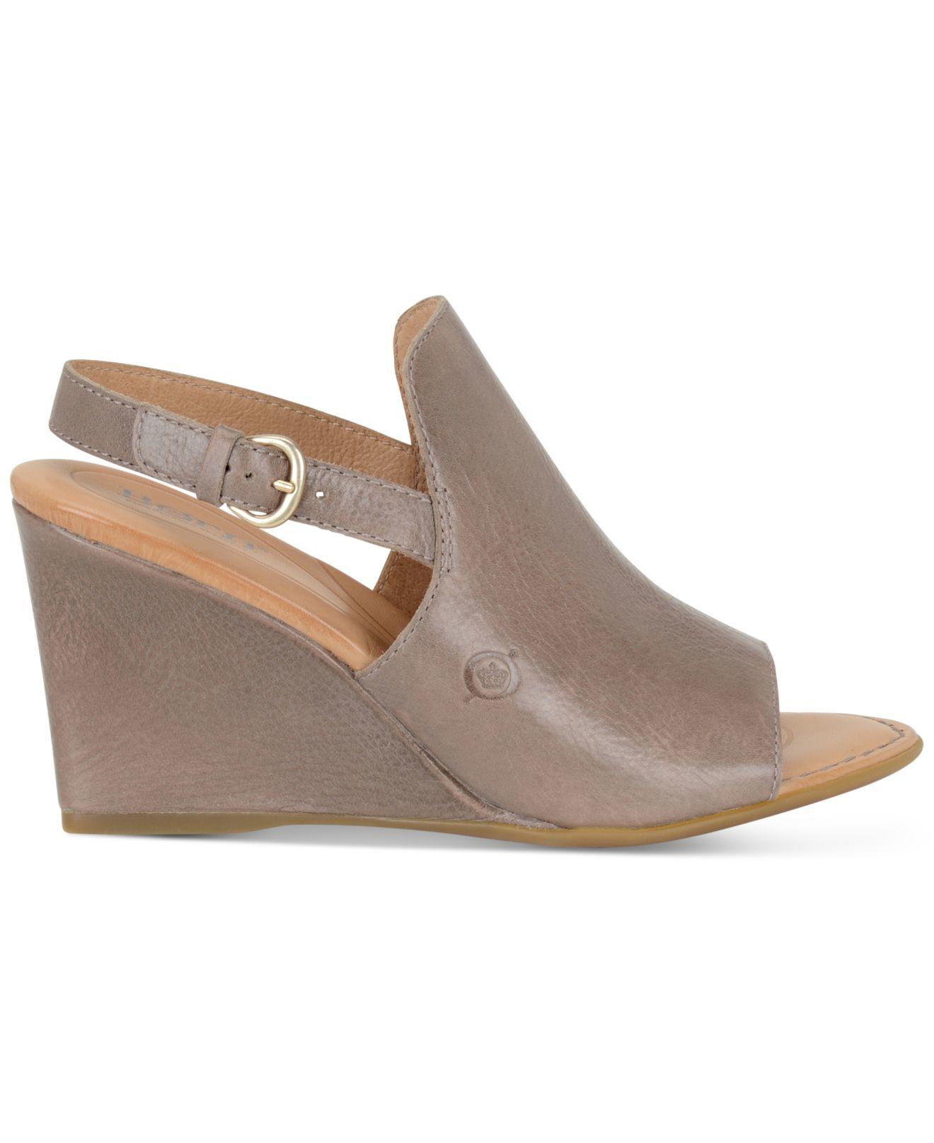 born bevi wedge sandals in grey lyst