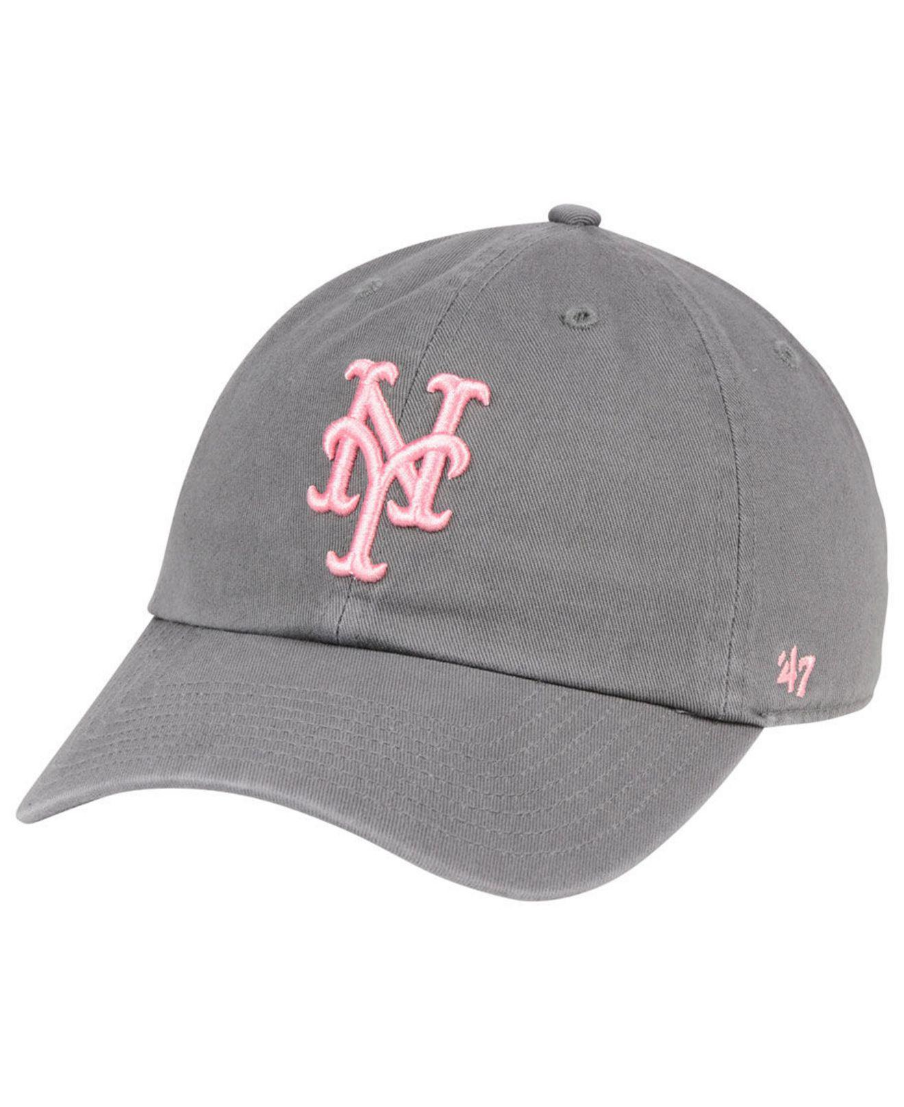 promo code a4cab 1e187 ... sale lyst 47 brand new york mets dark gray pink clean up cap in gray  16928