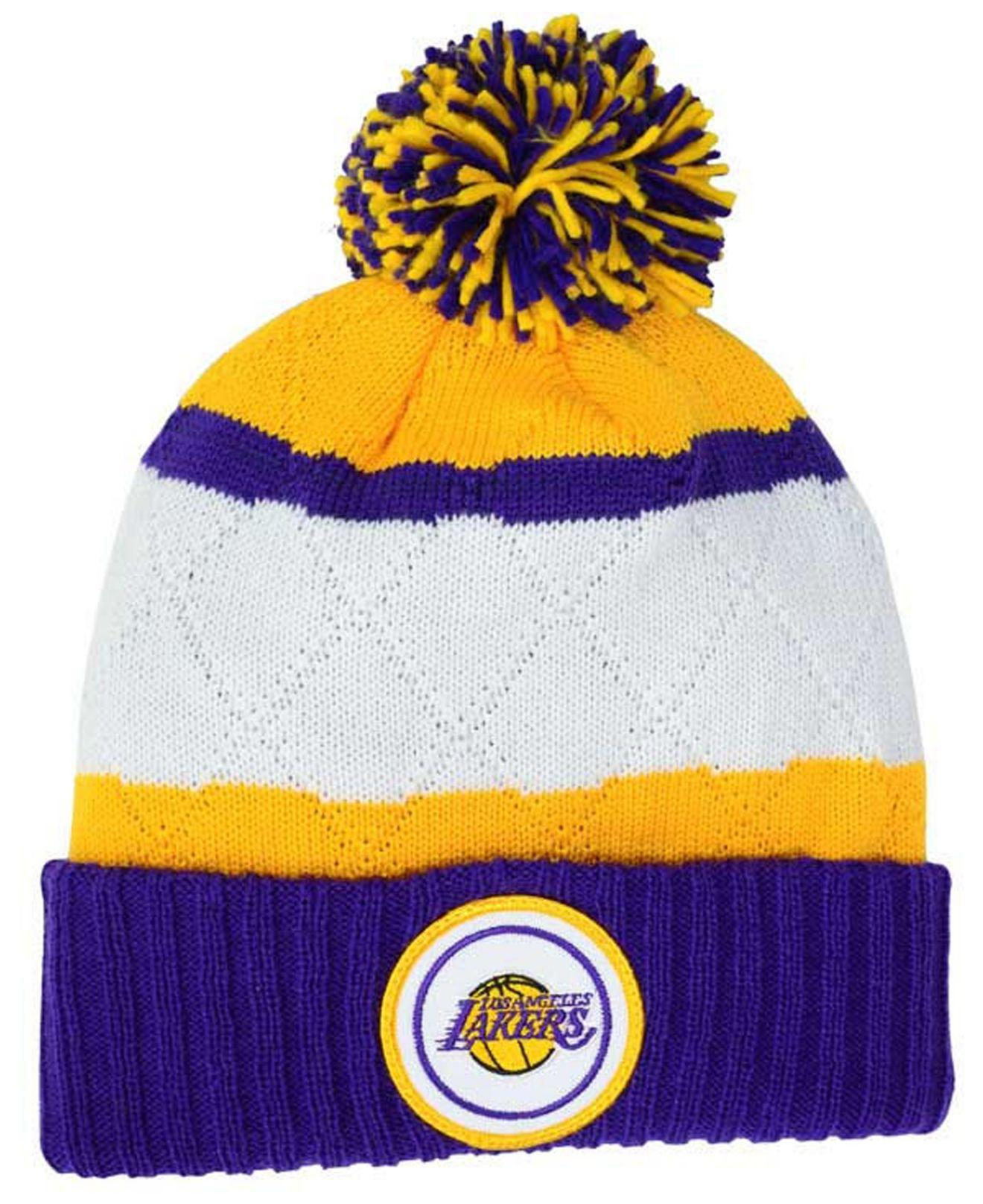 739de669e81 ... cheap lyst mitchell ness quilted hi five knit hat in purple for men  01d18 974b1