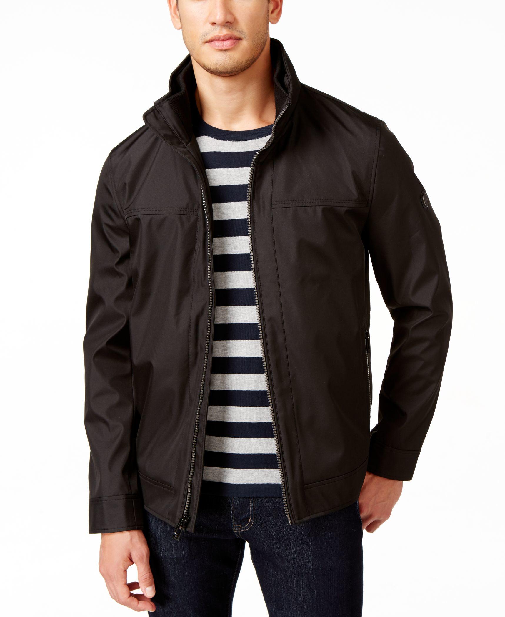 Calvin Klein Windbreaker Jacket In Black For Men Lyst