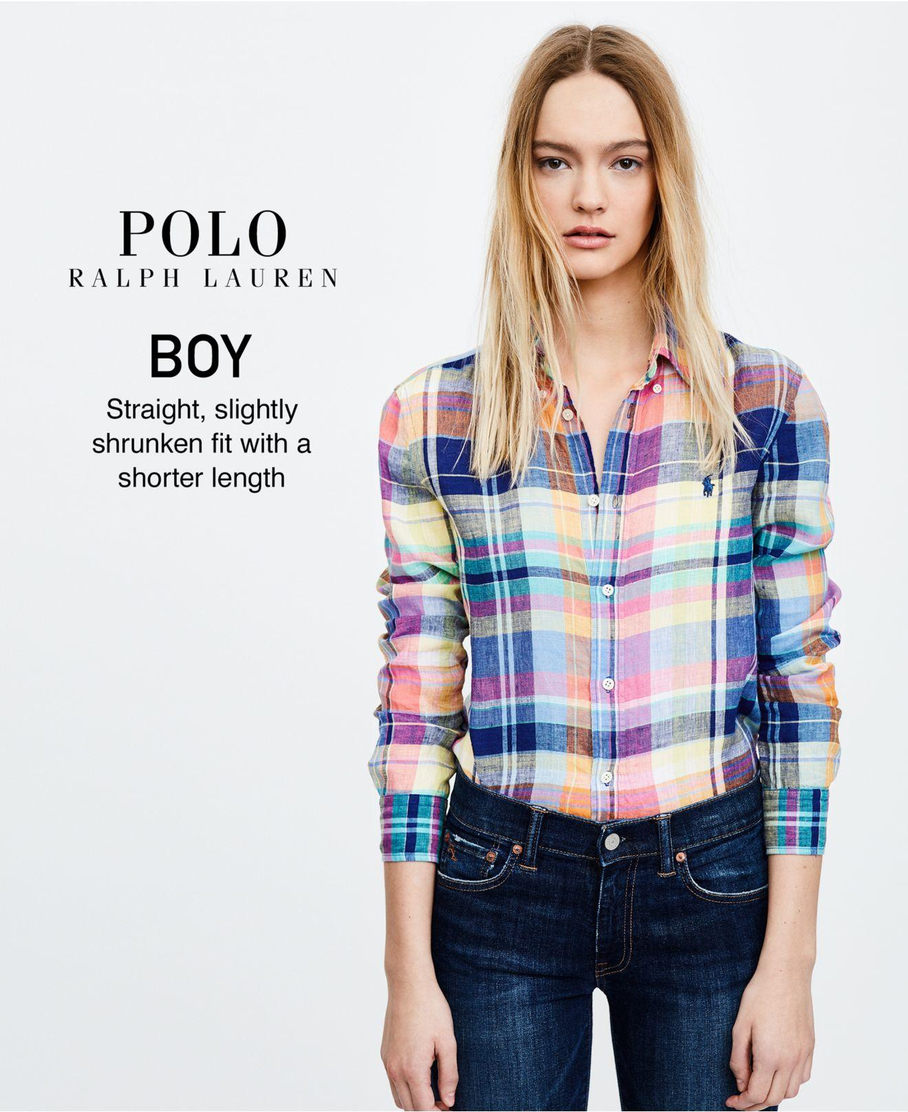 bf6b5e0e3ba ... pleasant pink teal sg221k16og uk womens clothing cdgknqrty9 ffffa  1e03a  switzerland lyst polo ralph lauren boy fit plaid linen shirt f938d  1298d