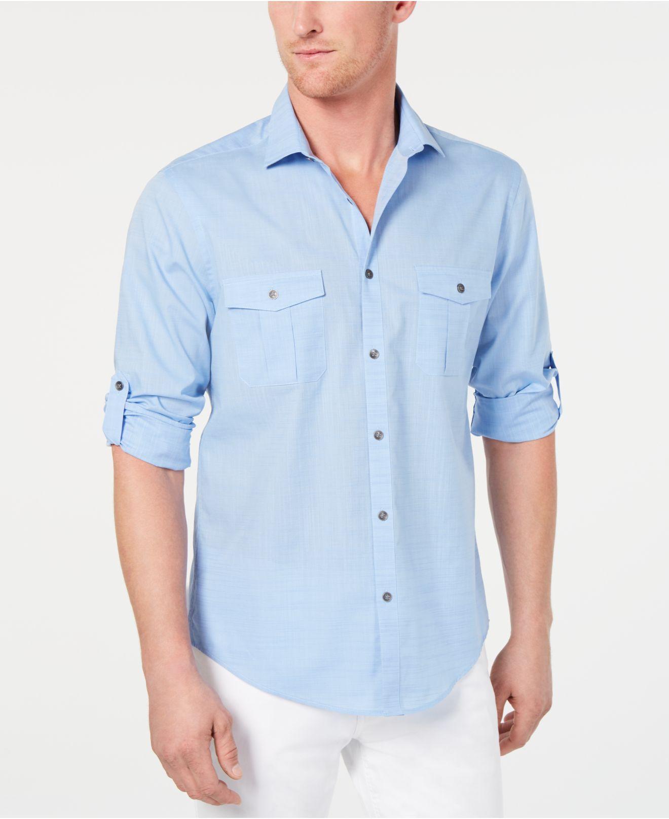 a6322155f15 Lyst - Alfani Warren Long Sleeve Shirt