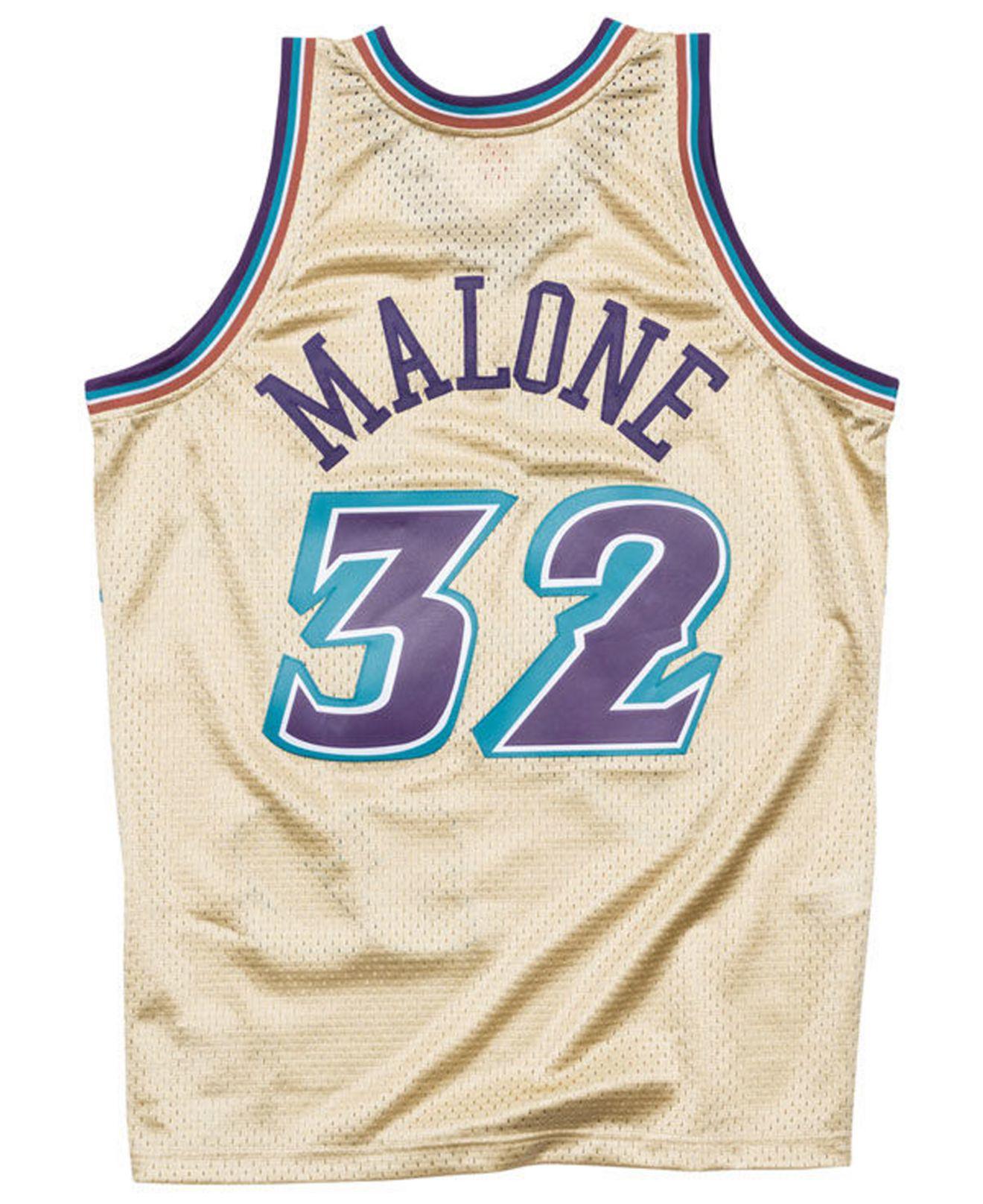 33b158c16 Mitchell   Ness Karl Malone Utah Jazz Gold Collection Swingman ...