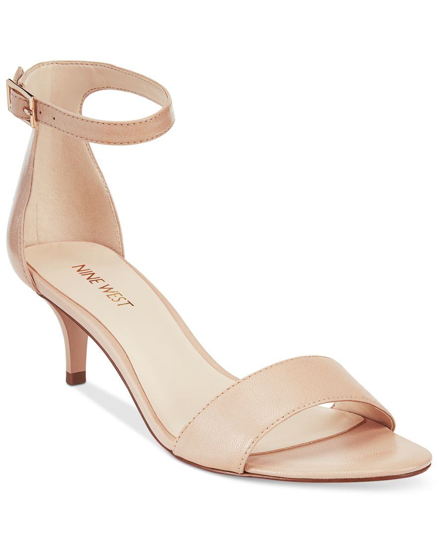 Nine West Leisa Two-Piece Kitten Heel Sandals In Pink  Lyst-8601