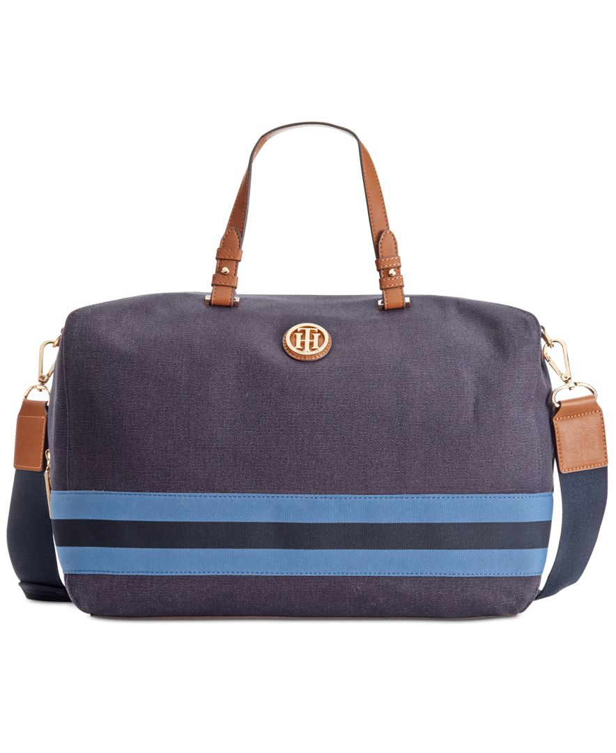 lyst tommy hilfiger marta weekender in blue. Black Bedroom Furniture Sets. Home Design Ideas
