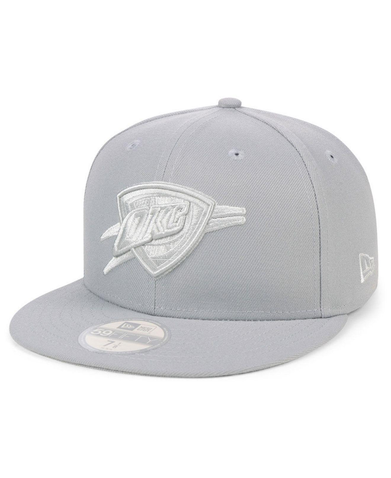 outlet store 233cd 222e7 ... adjustable e4702 e5679  sale ktz. mens gray oklahoma city thunder fall  prism pack 59fifty fitted cap 0384e 626a7