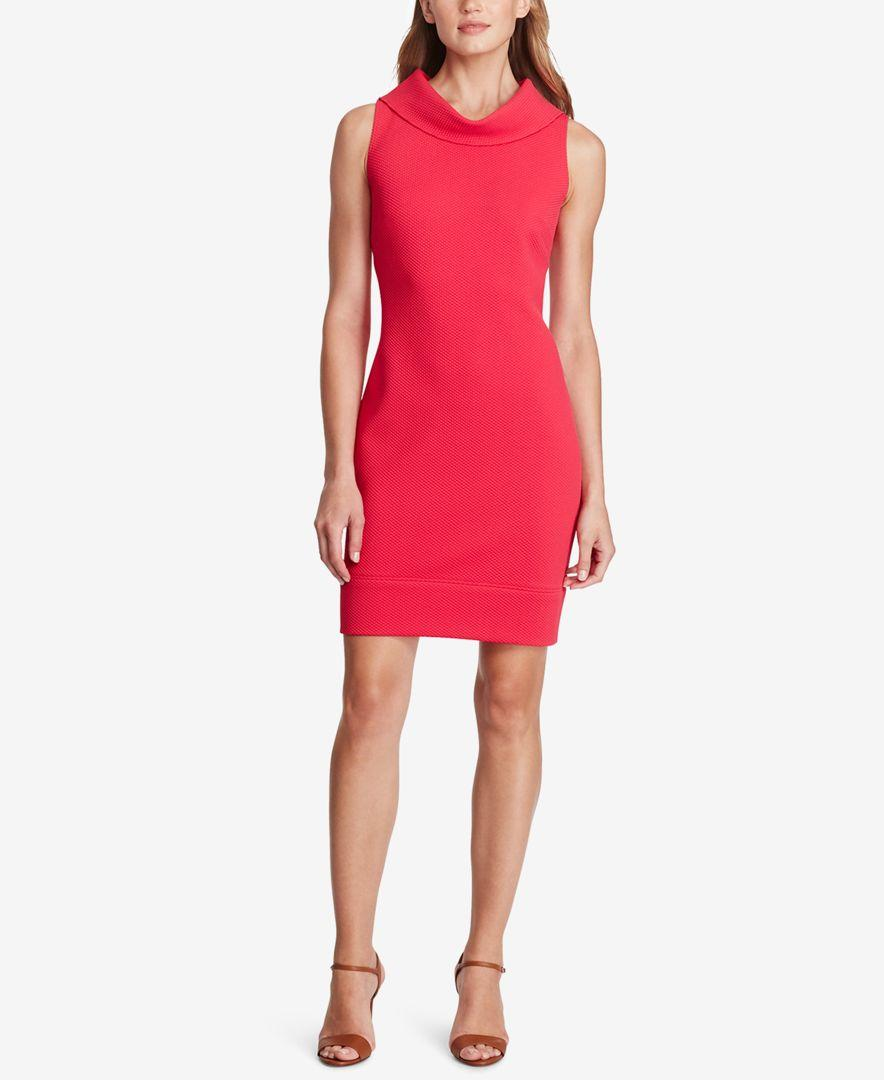 American Living Cowl Neck Sheath Dress In Red Lyst