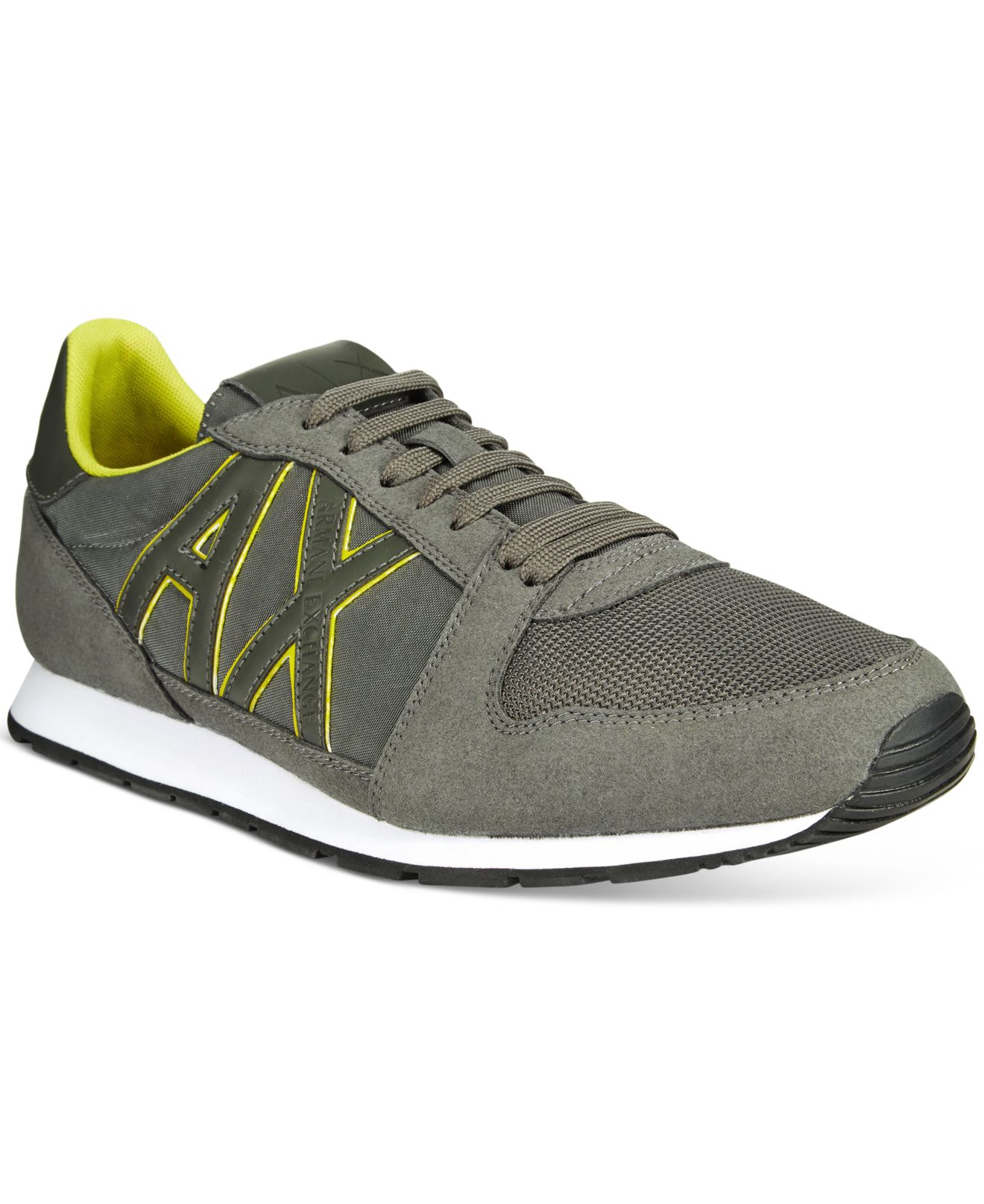 armani exchange s ax jogger sneakers in gray for
