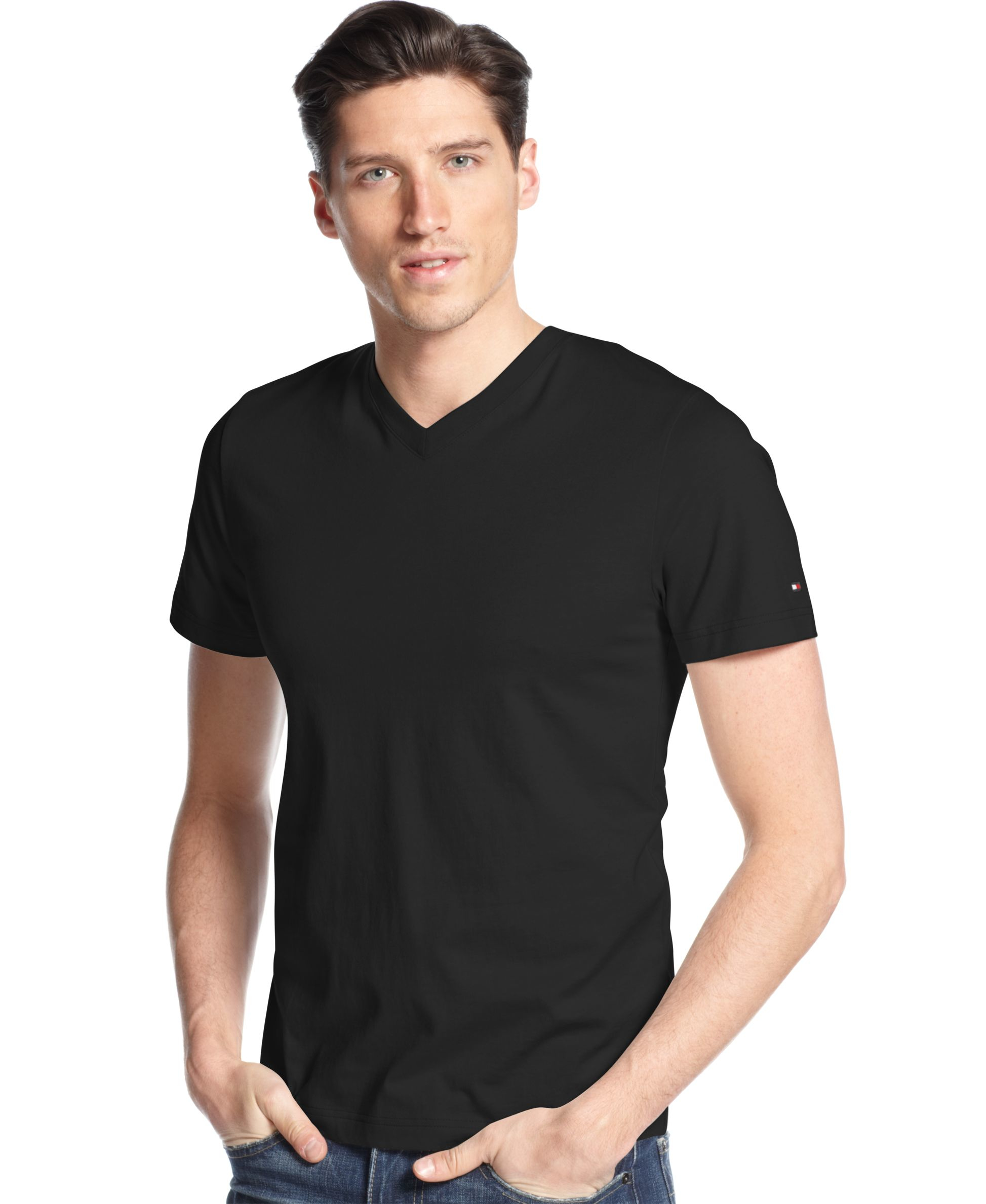 Tommy hilfiger big and tall men 39 s elmira v neck t shirt in for T shirt for tall man