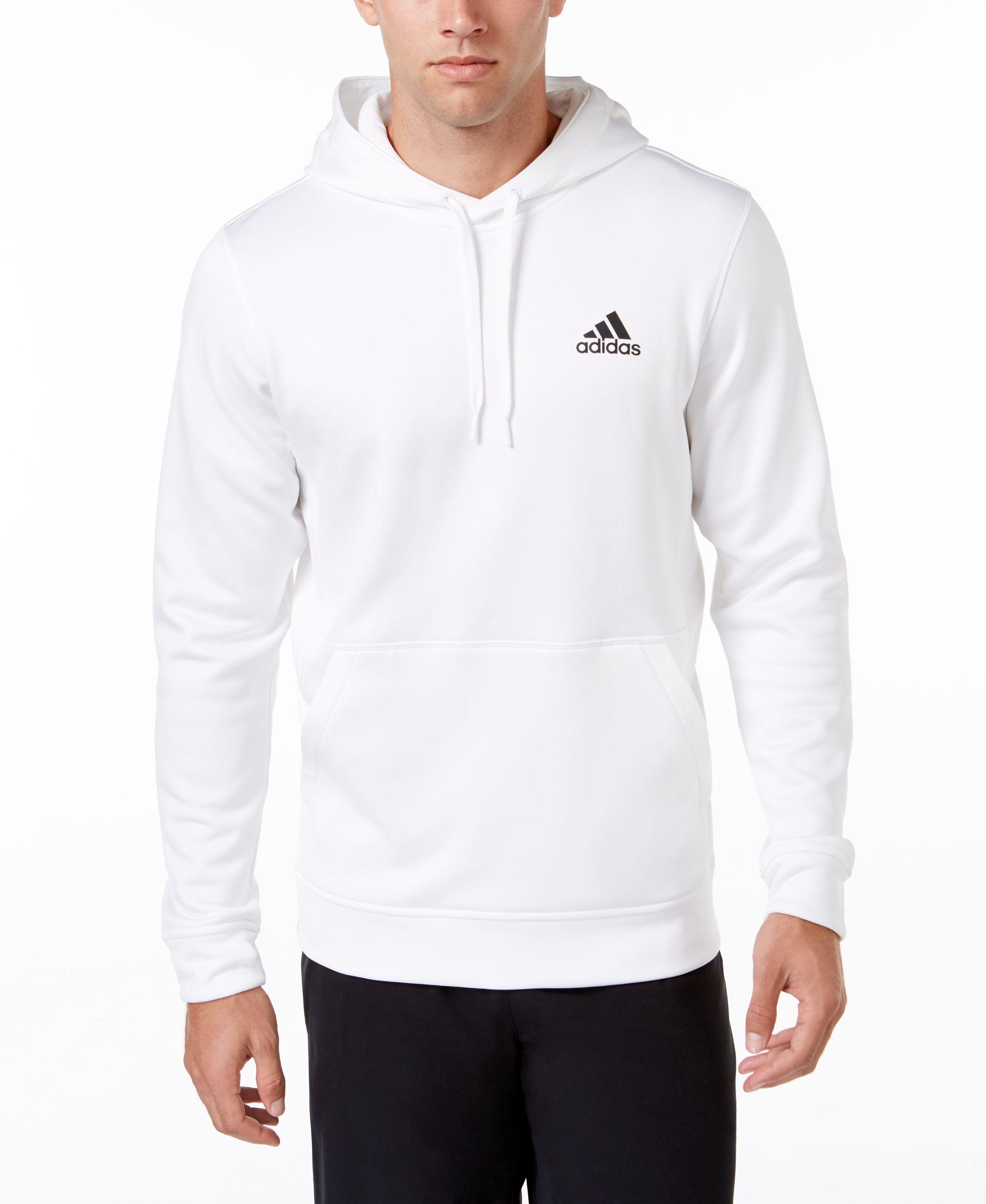 Adidas originals Men's Team Issue Pullover Hoodie in White for Men ...