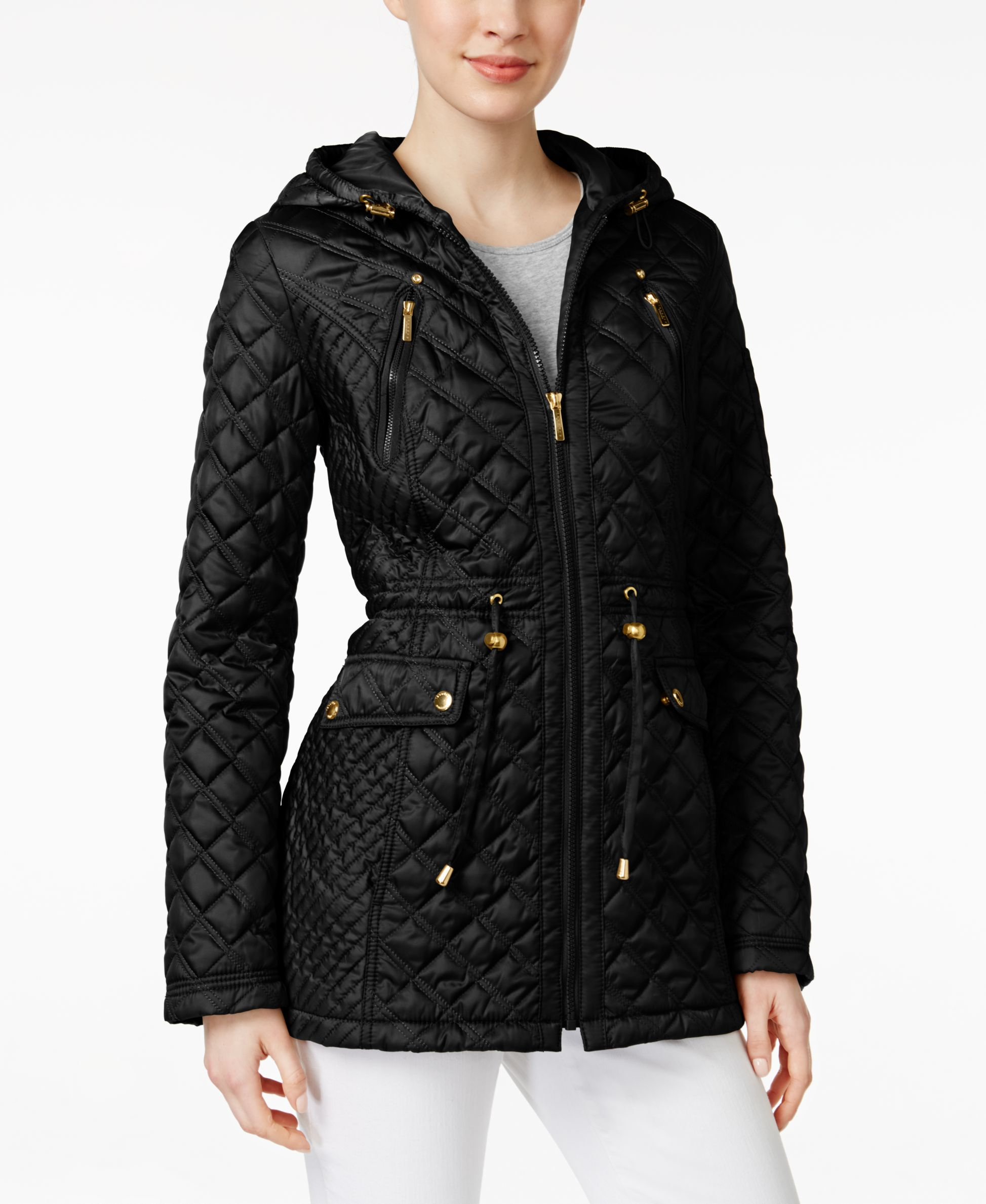 Laundry By Shelli Segal Petite Hooded Quilted Anorak