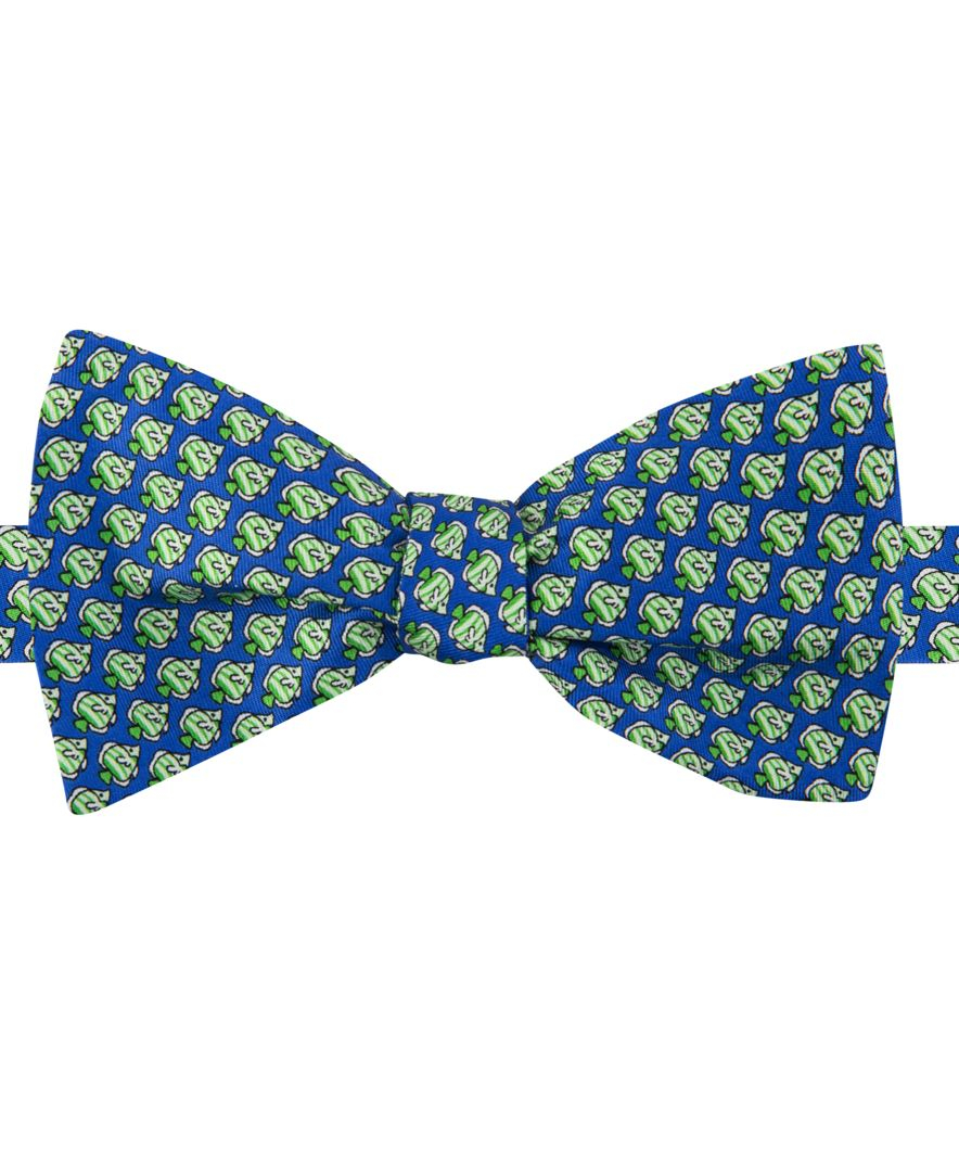 Tommy hilfiger men 39 s fish print to tie bow tie in blue for for Fish bow tie