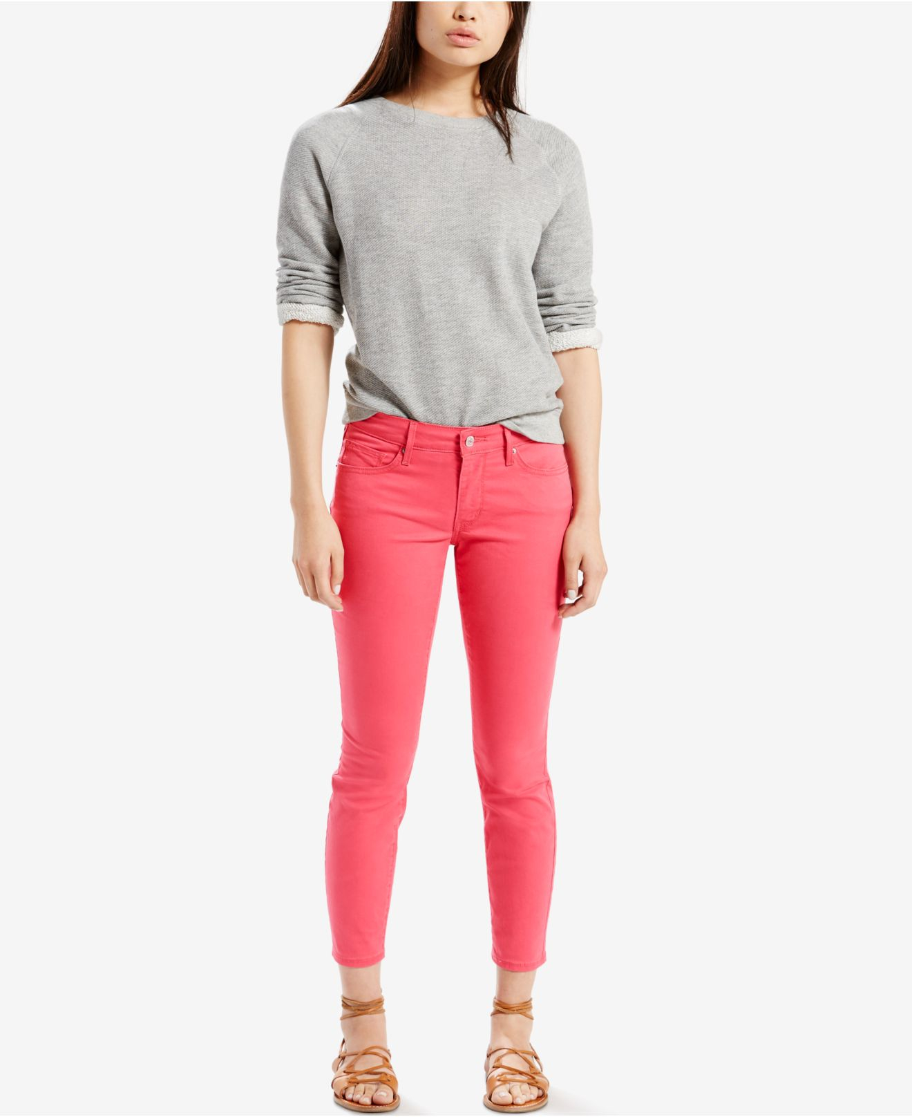 Levi's ® 711 Skinny Ankle Jeans in Pink (Red)