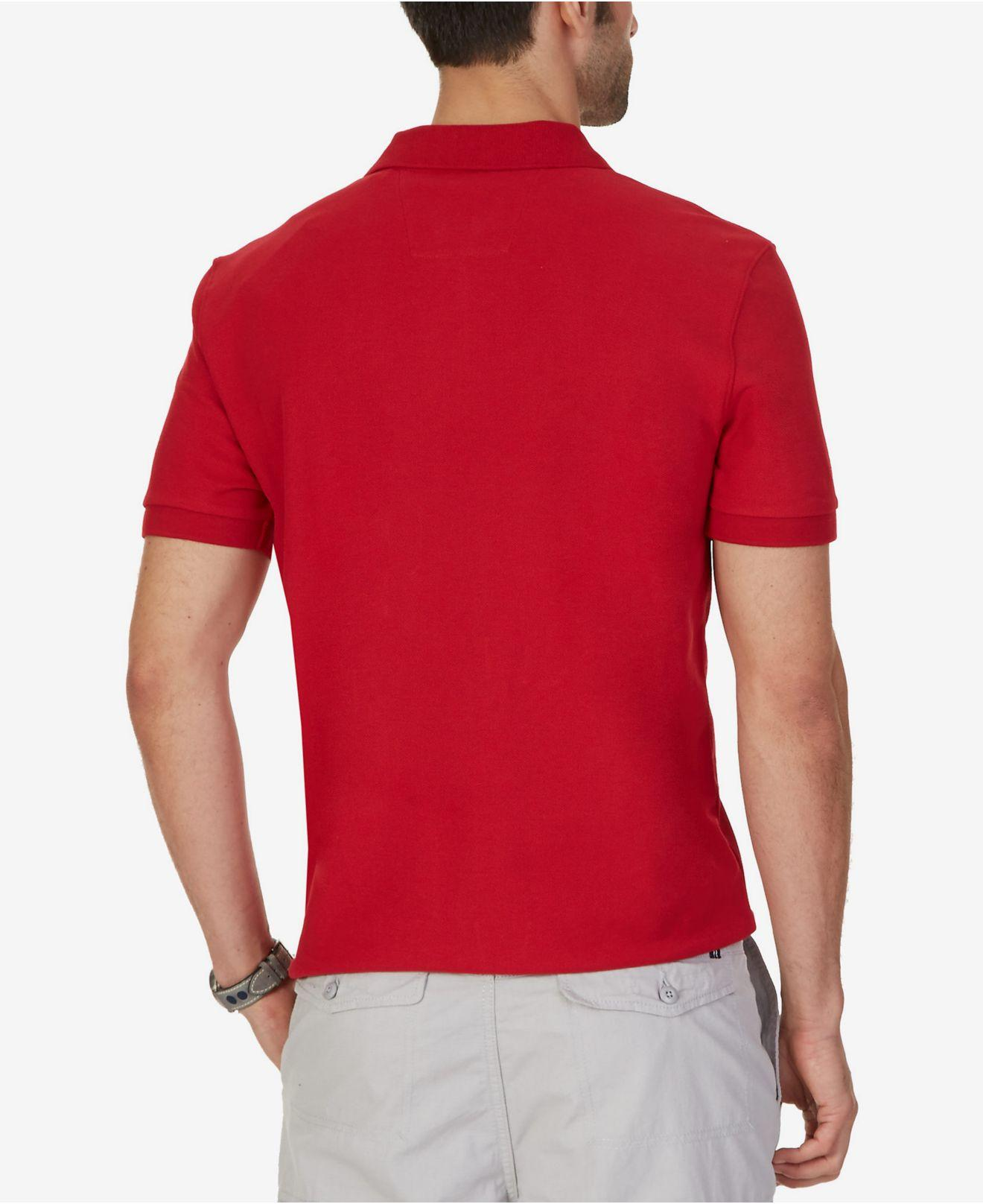 d6c3fe78 Lyst - Nautica Big And Tall Performance Deck Polo in Red for Men - Save 17%