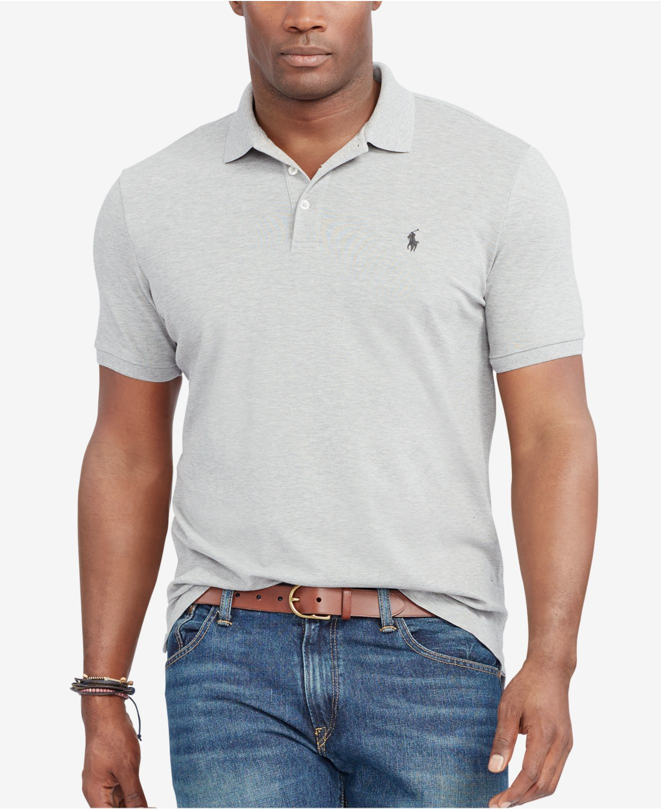 Polo ralph lauren men 39 s big tall classic fit stretch for Stretch polo shirt mens
