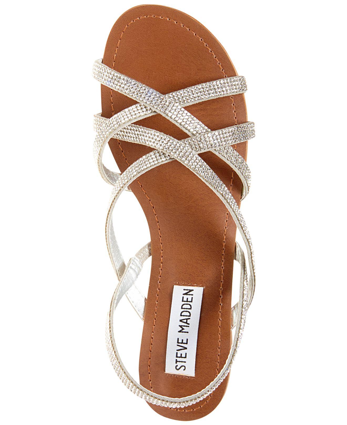 Steve Madden Women S Zippie Flat Sandals In White Lyst