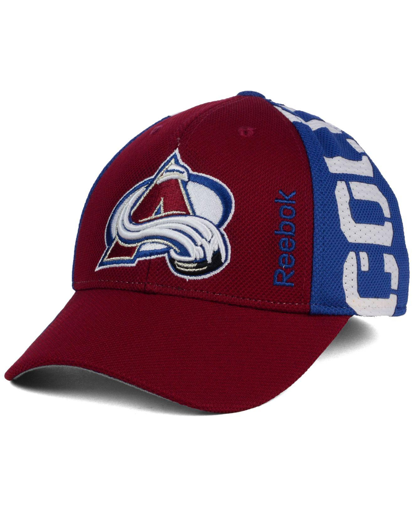762289394aa ... canada lyst reebok colorado avalanche 2016 nhl draft flex cap in red  for men d7289 e7a14