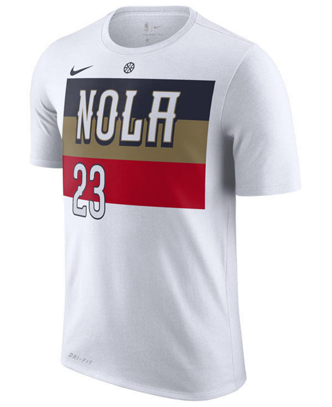 Nike - White Anthony Davis New Orleans Pelicans Earned Edition Player T- shirt for Men. View fullscreen aecbb1798