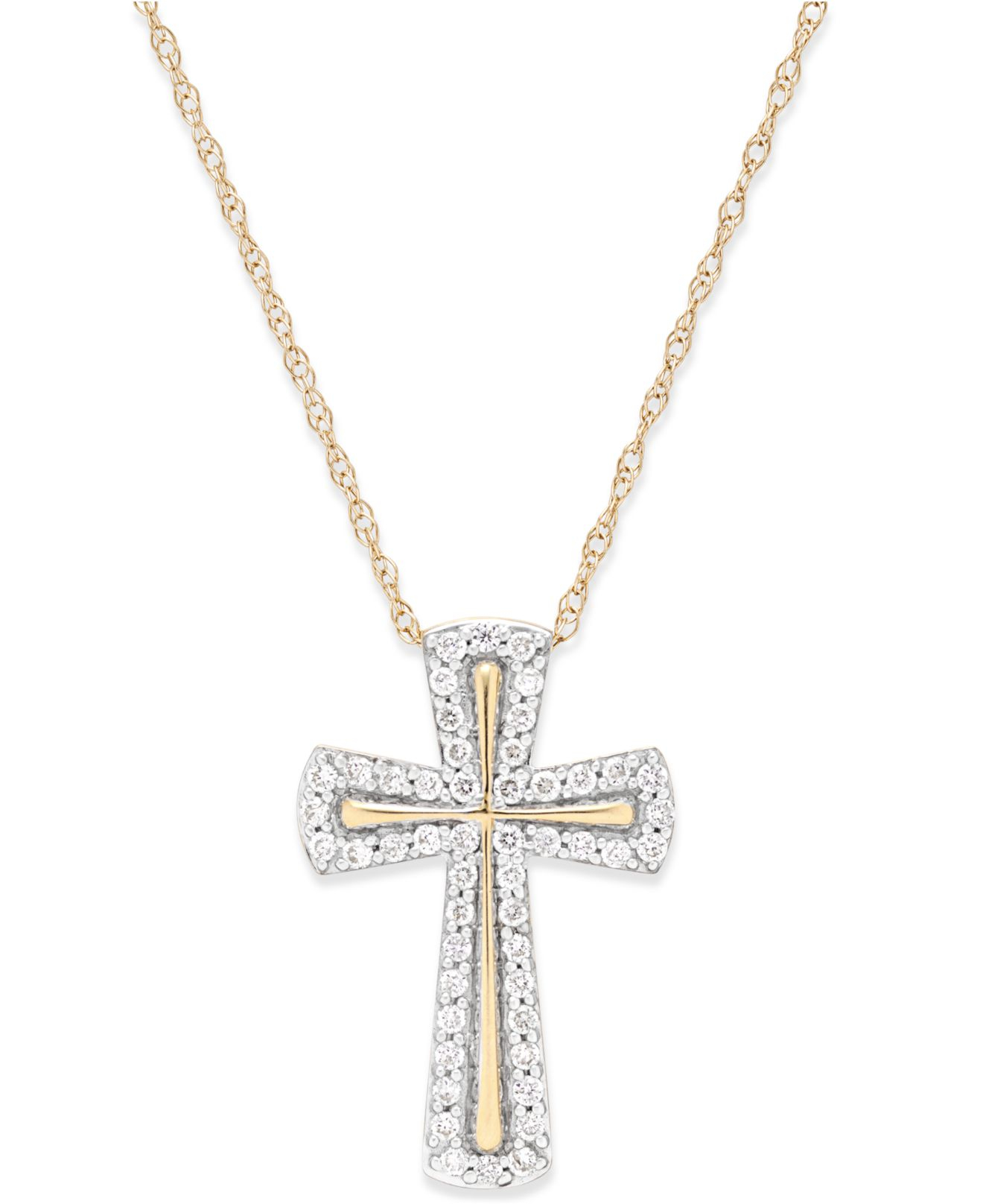 Gold Cross Necklace At Macys