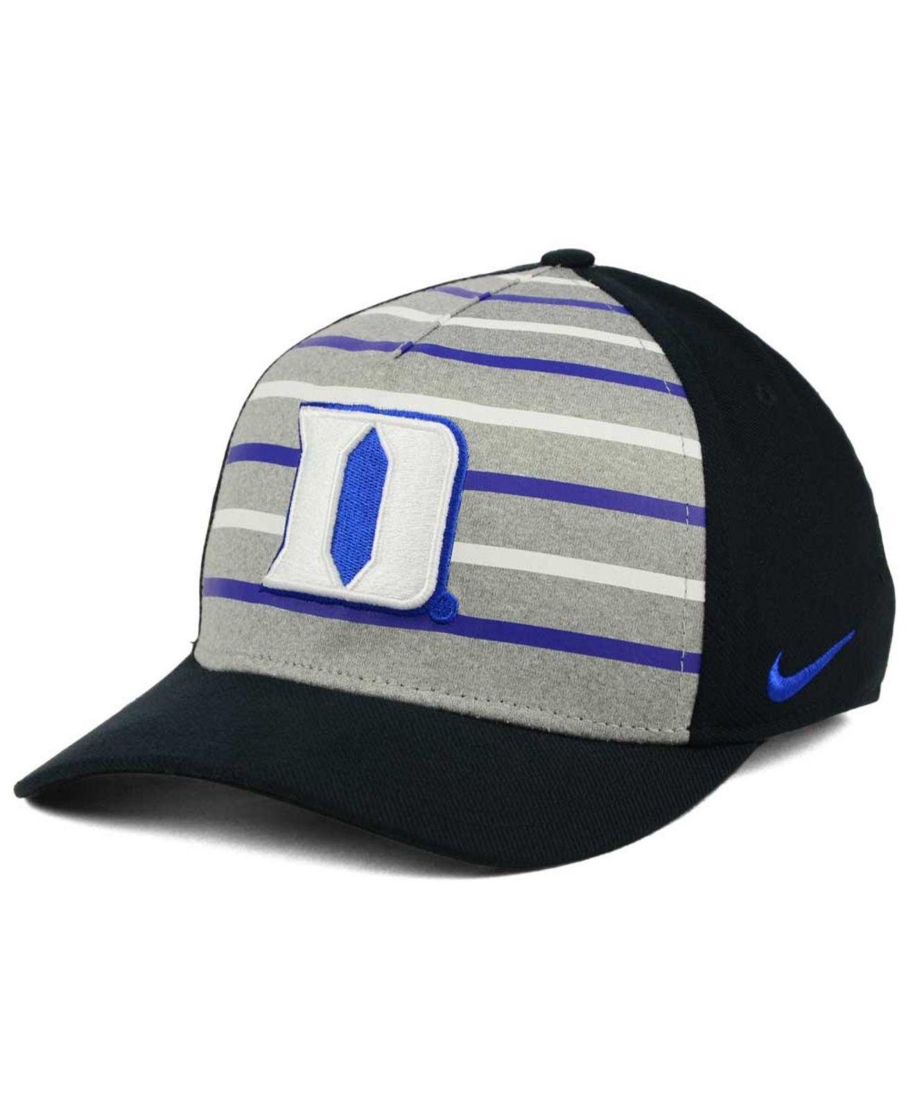 huge selection of d63a2 7c523 Lyst - Nike Duke Blue Devils Classic Verbiage Swoosh Cap in Black ...