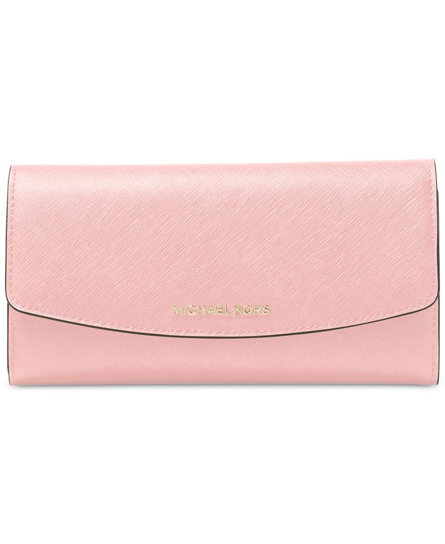 302748cdf1c7 Michael Kors Michael Ava Large Trifold Wallet in Pink - Lyst