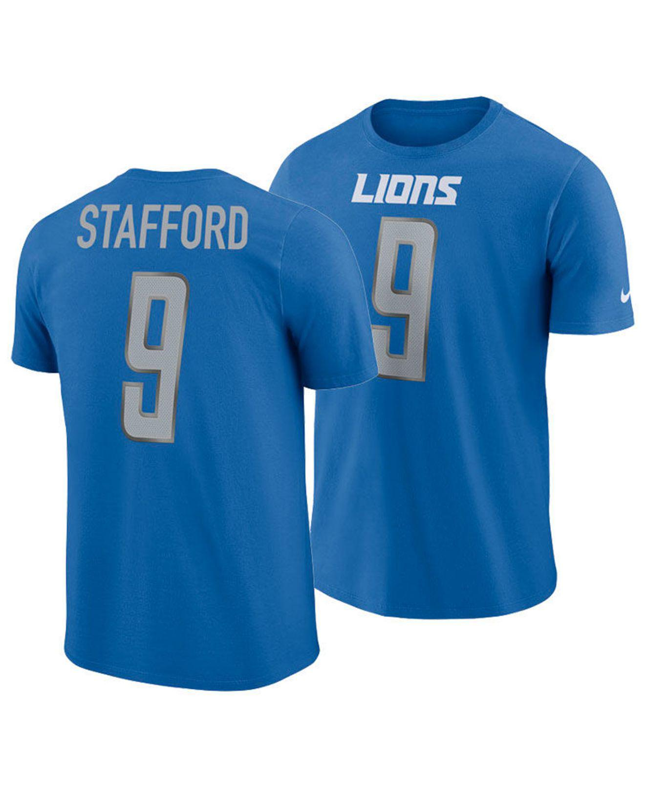 Lyst - Nike Matthew Stafford Detroit Lions Player Pride Name And ... 1309ec9a0