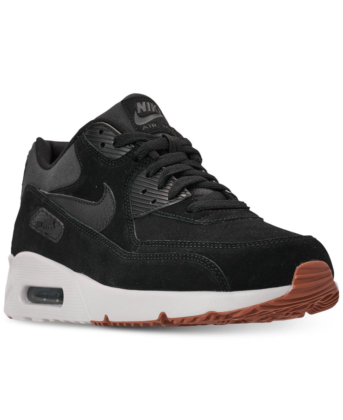 huge discount 73a18 dfd35 Nike. Men s Air Max 90 Ultra 2.0 Leather Black  Black-light Bone