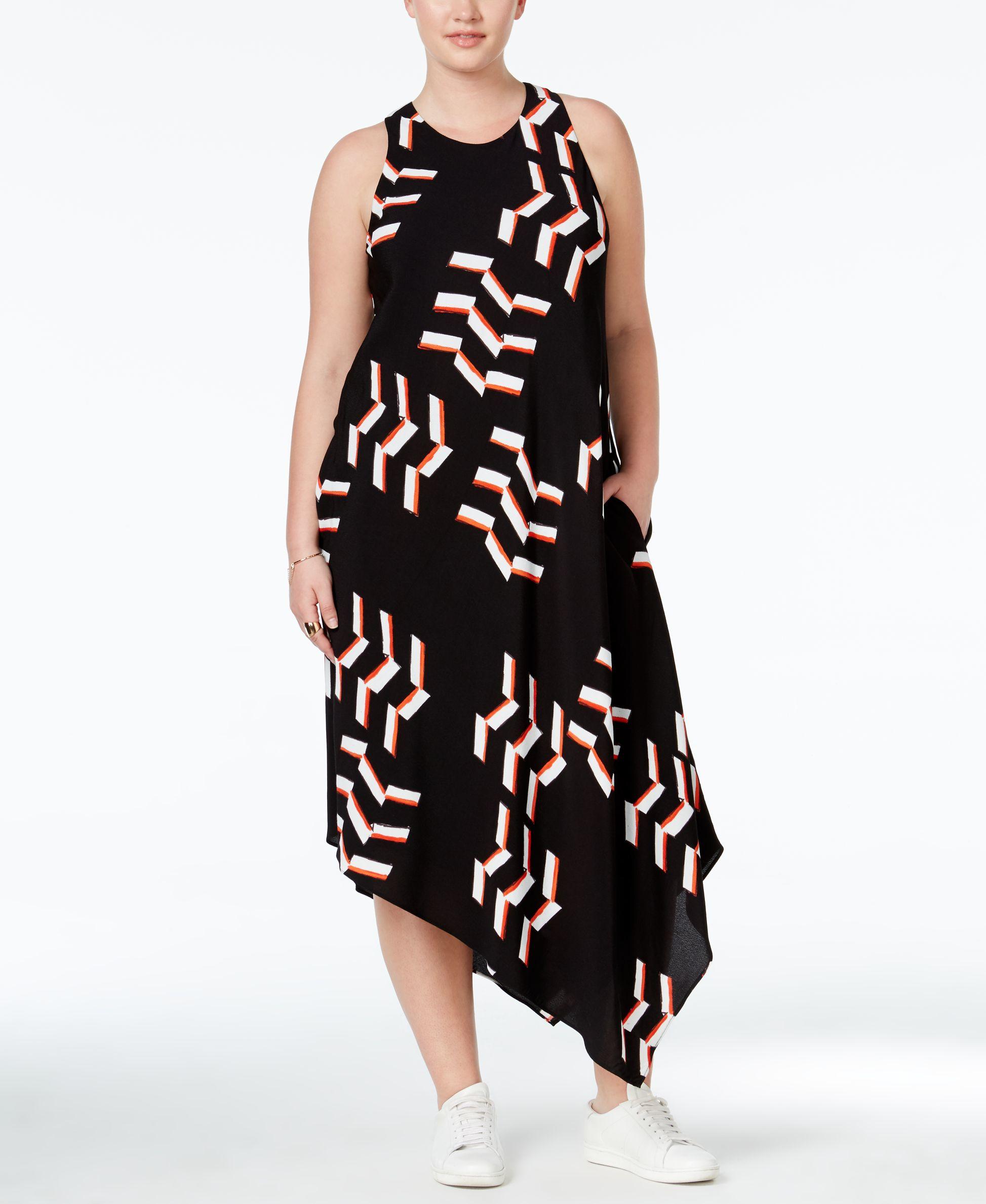 77a9f1a4c38 Lyst - RACHEL Rachel Roy Curvy Trendy Plus Size Printed Asymmetrical ...