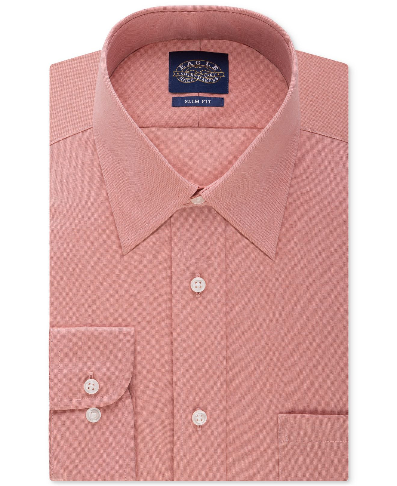 Eagle men 39 s men 39 s classic fit non iron pinpoint dress for Mens pinpoint dress shirts
