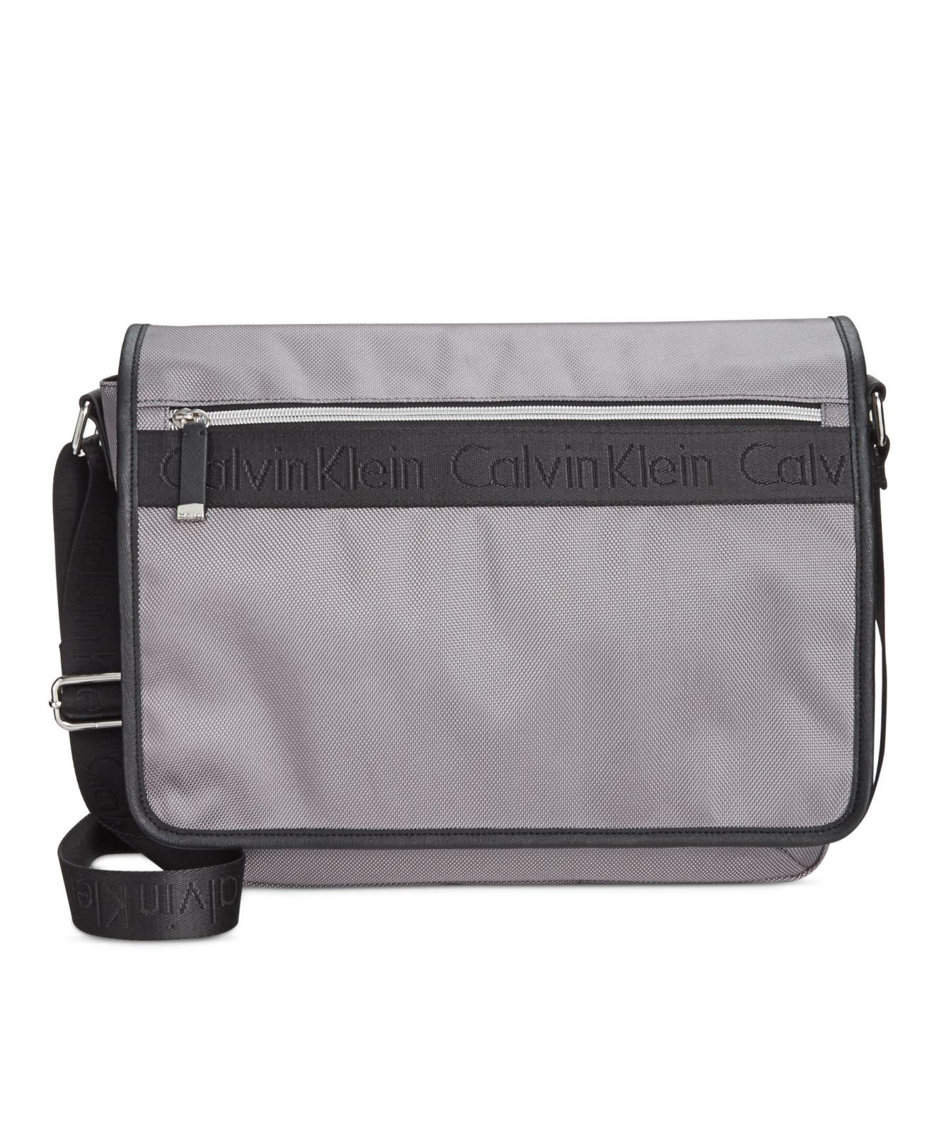 Lyst - Calvin Klein Ballistic Nylon Messenger in Black f6e63b9259