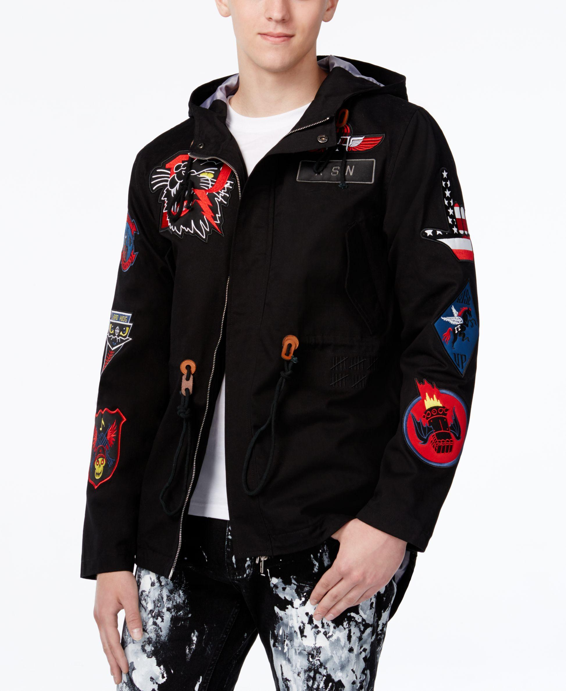 Reason Men's Hawker Patches Fish Tail Parka in Black for Men | Lyst