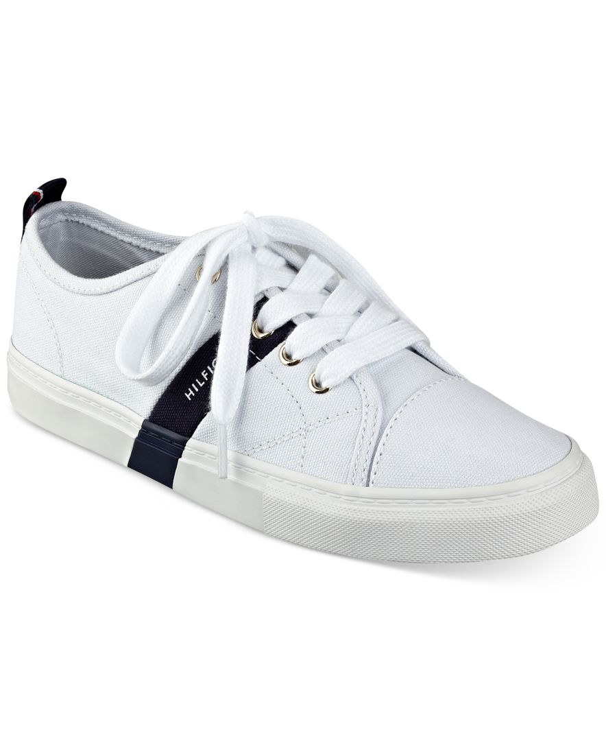 lyst tommy hilfiger lainie sneakers in white. Black Bedroom Furniture Sets. Home Design Ideas