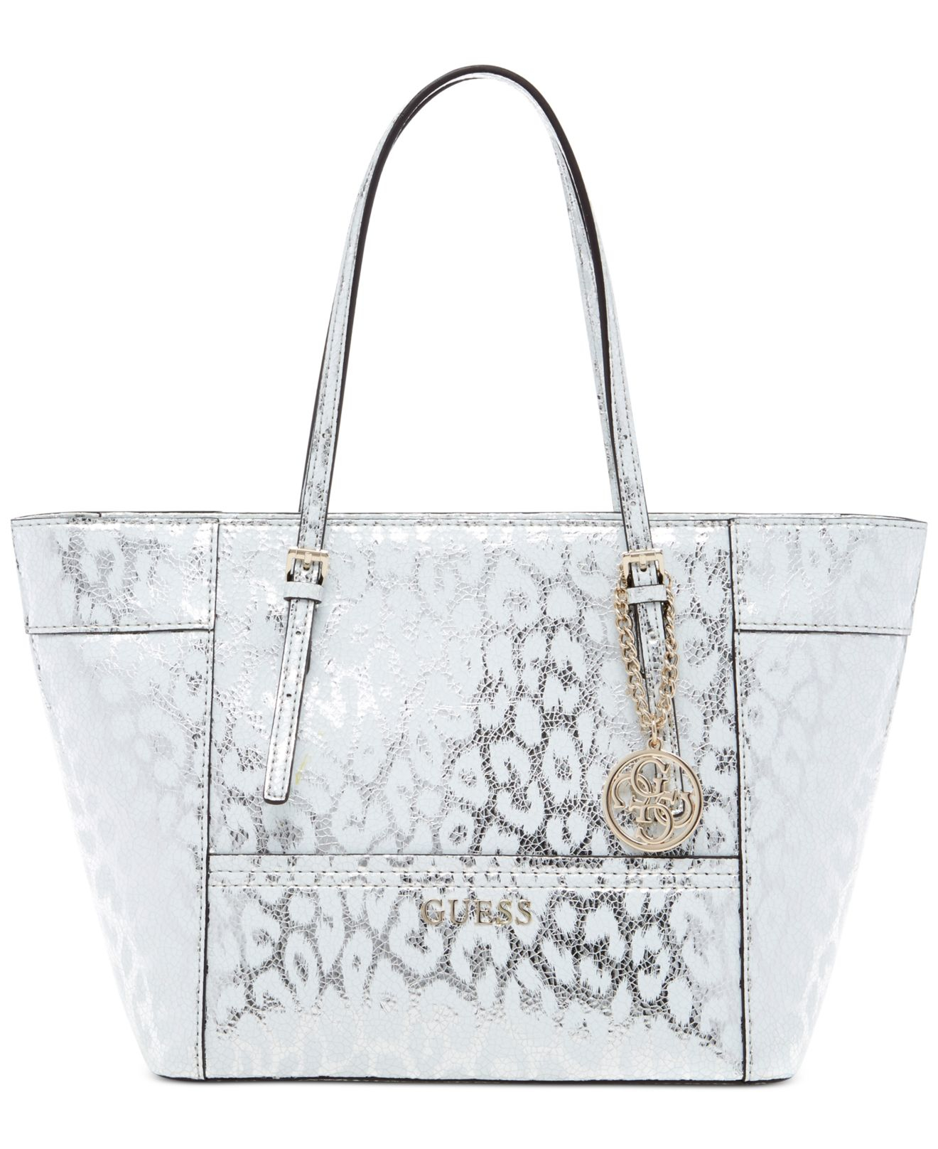 15319dd976 Guess Delaney Small Classic Tote in Blue - Lyst
