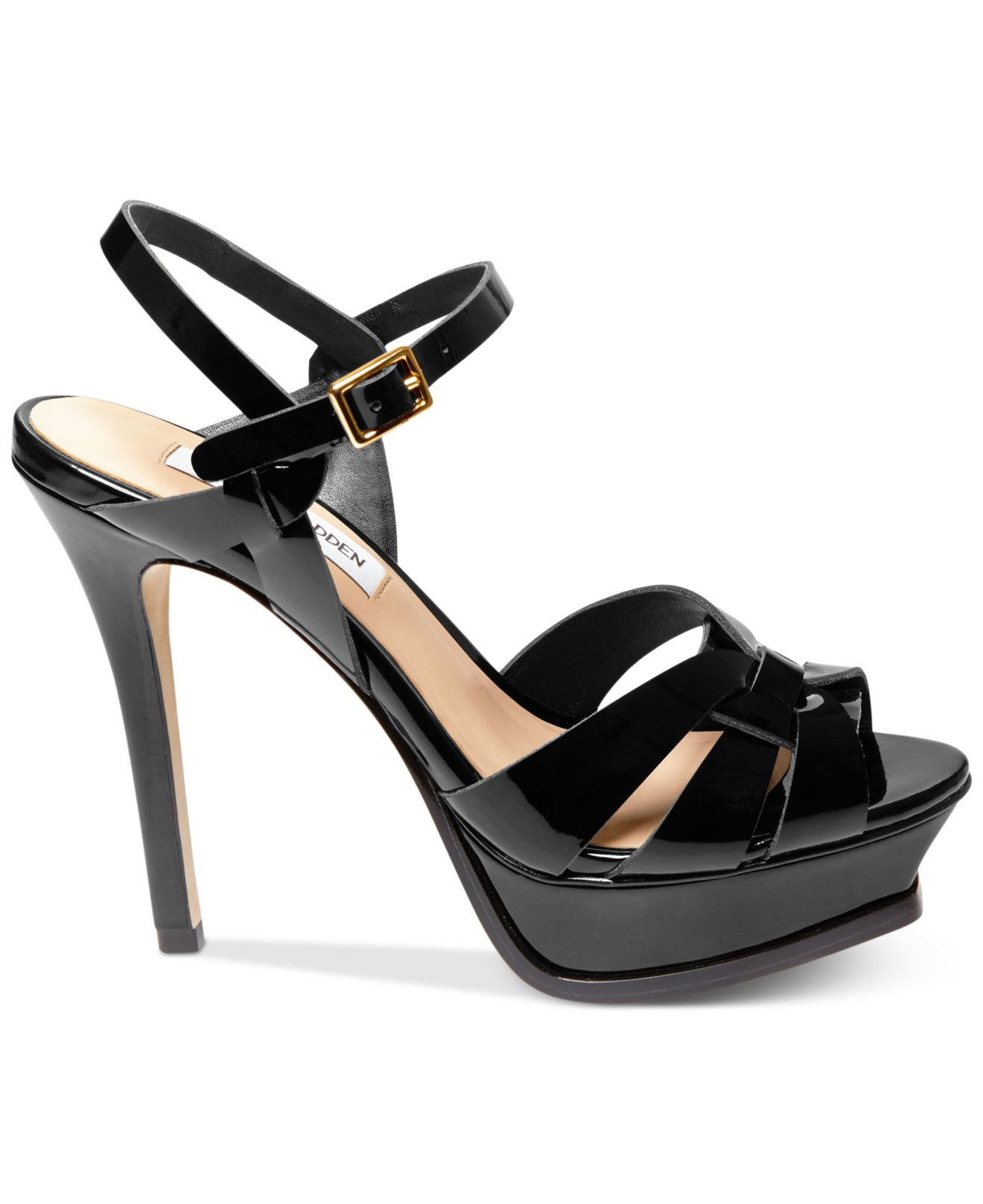 4fc9b52488f Lyst - Steve madden Women s Kananda Platform High-heel Sandals in Black