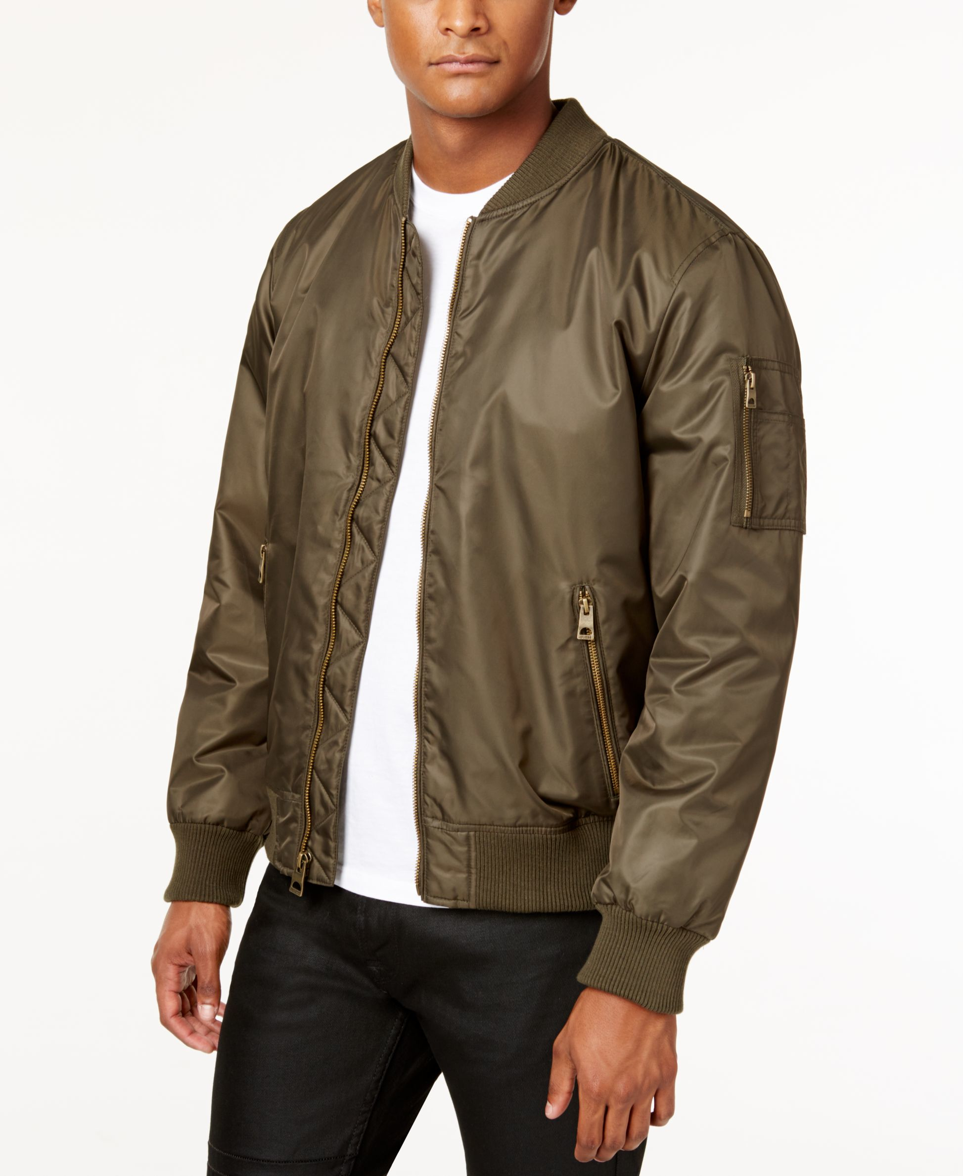 Guess Men's Classic Bomber Jacket in Multicolor for Men